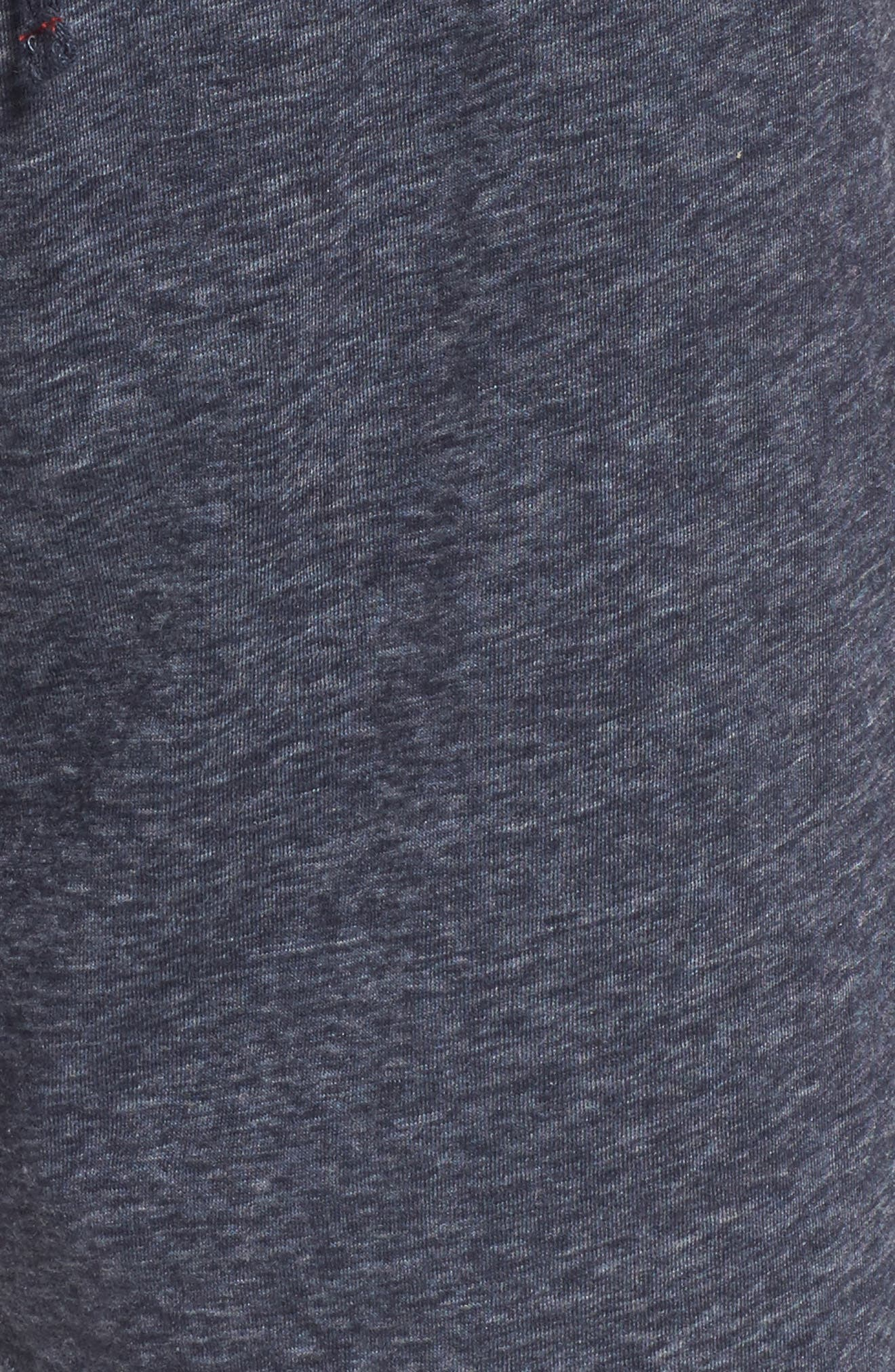 Recycled Cotton Blend Lounge Shorts,                             Alternate thumbnail 5, color,                             NAVY HEATHER
