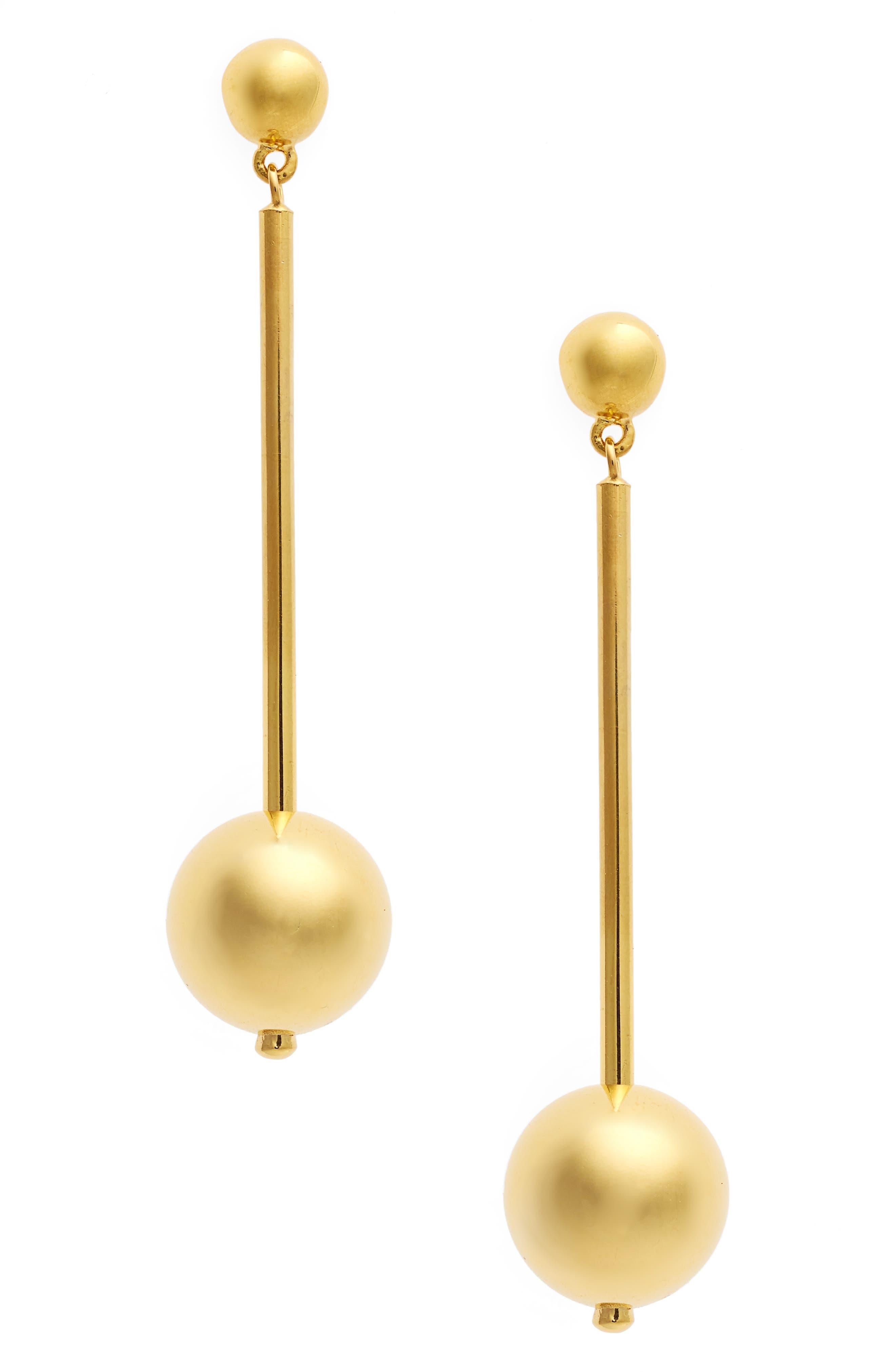 Suzanne Long Vermeil Drop Earrings,                         Main,                         color, GOLD