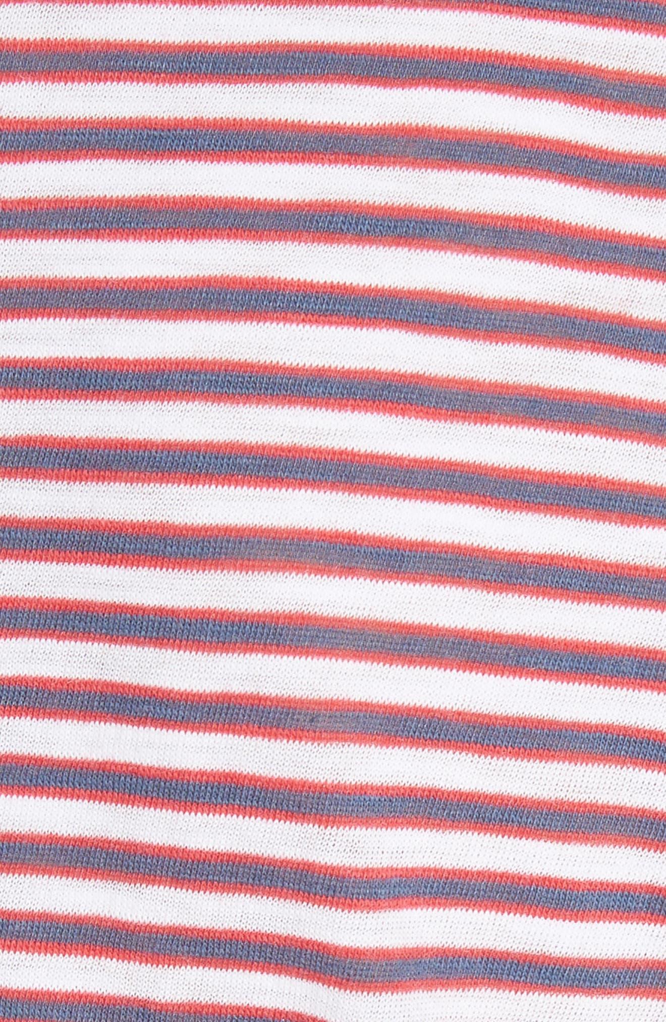 Clare Stripe Tee,                             Alternate thumbnail 5, color,                             600