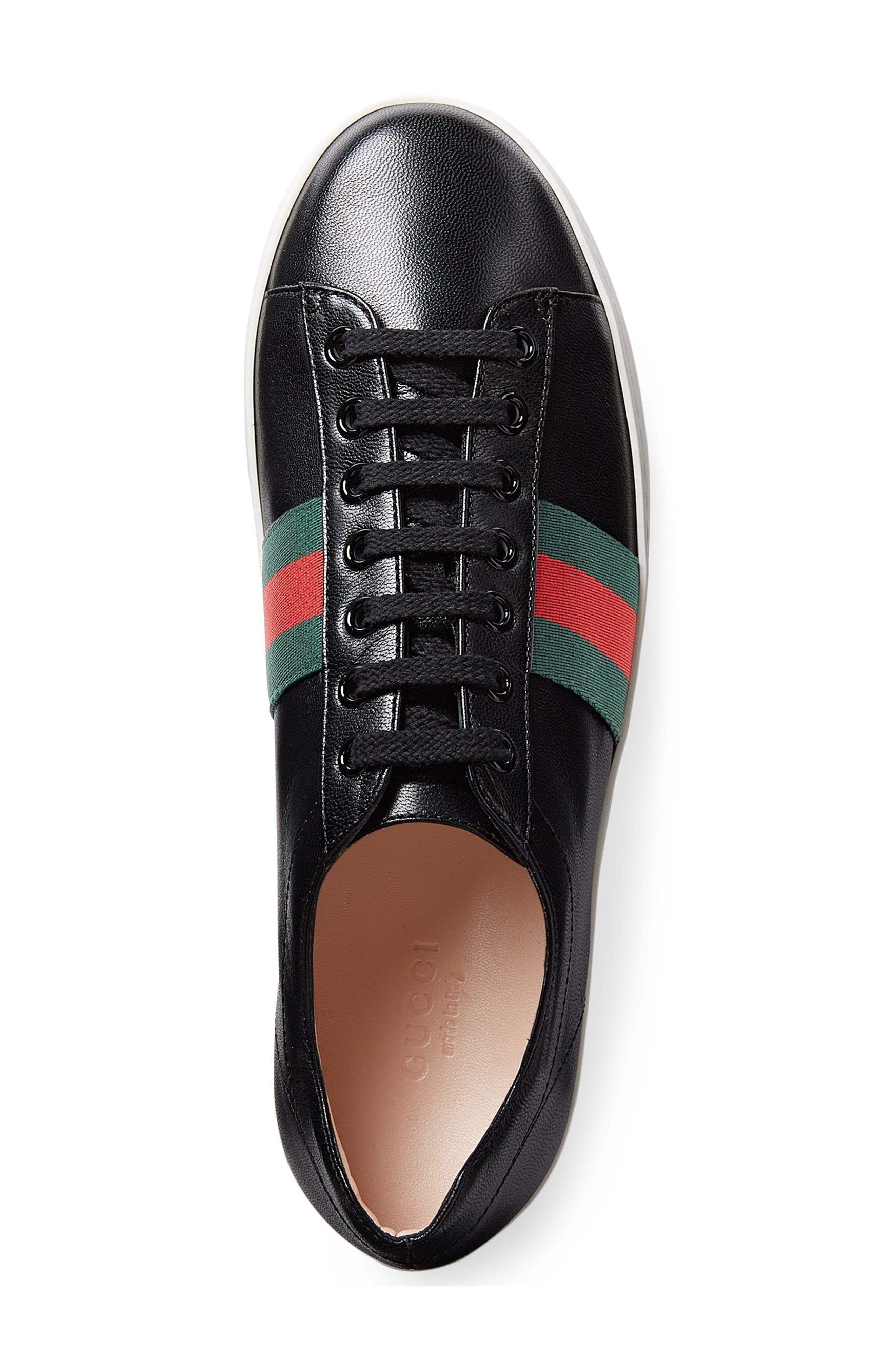 Peggy Flatform Sneaker,                             Alternate thumbnail 4, color,                             001