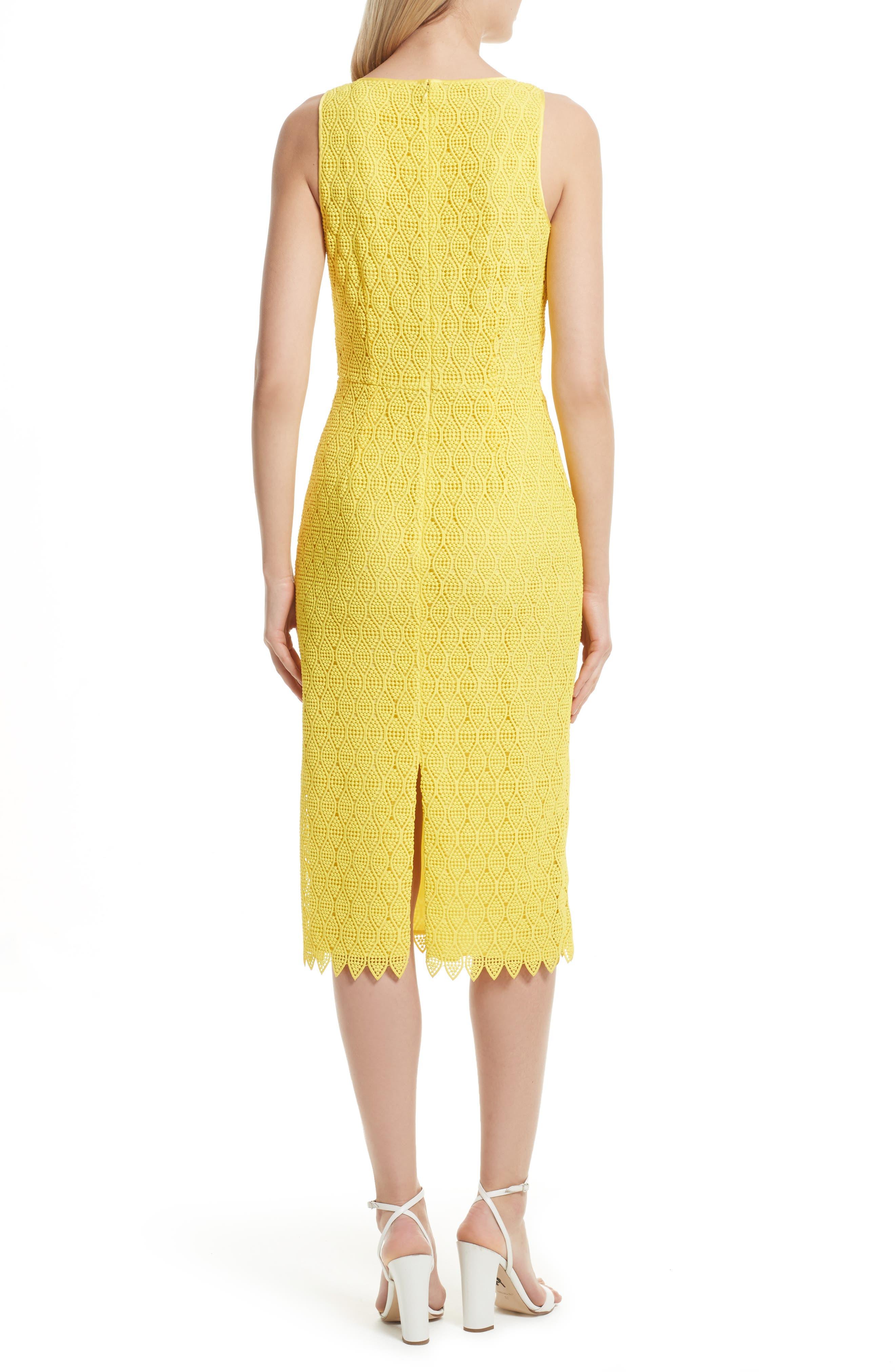 Lace Midi Sheath Dress,                             Alternate thumbnail 2, color,                             732