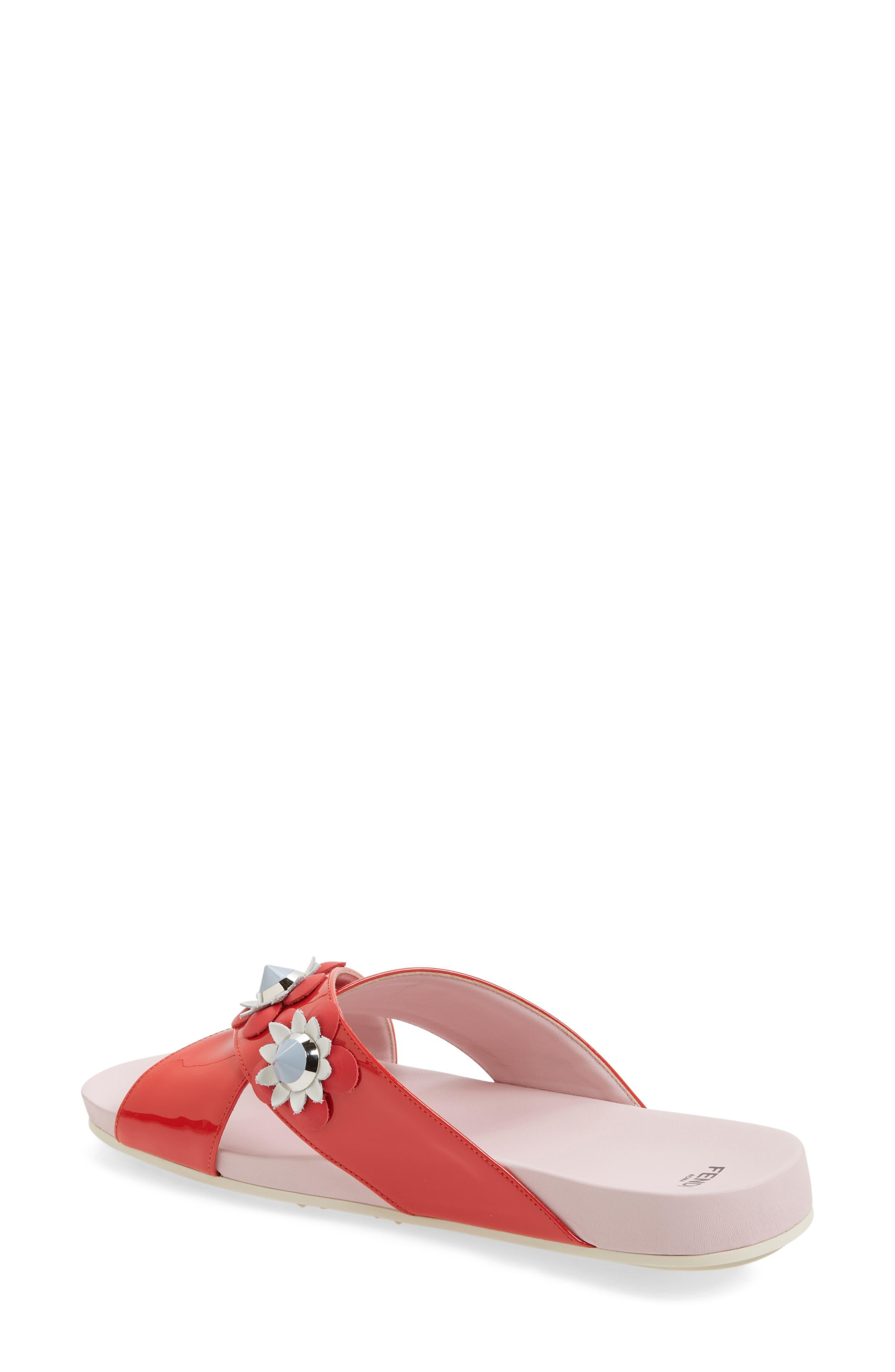 Flowerland Slide Sandal,                             Alternate thumbnail 6, color,