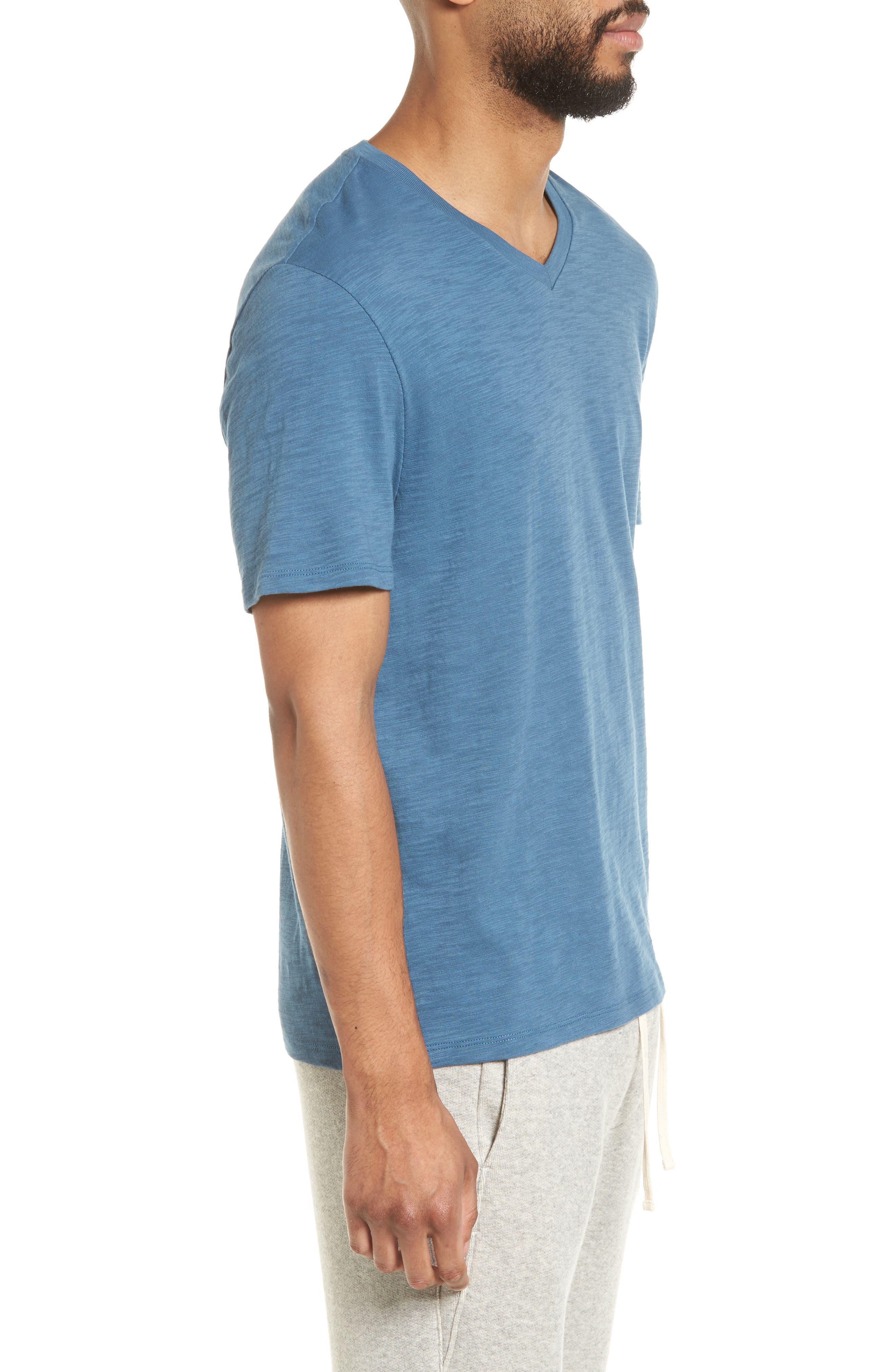 Slim Fit Slub V-Neck T-Shirt,                             Alternate thumbnail 5, color,