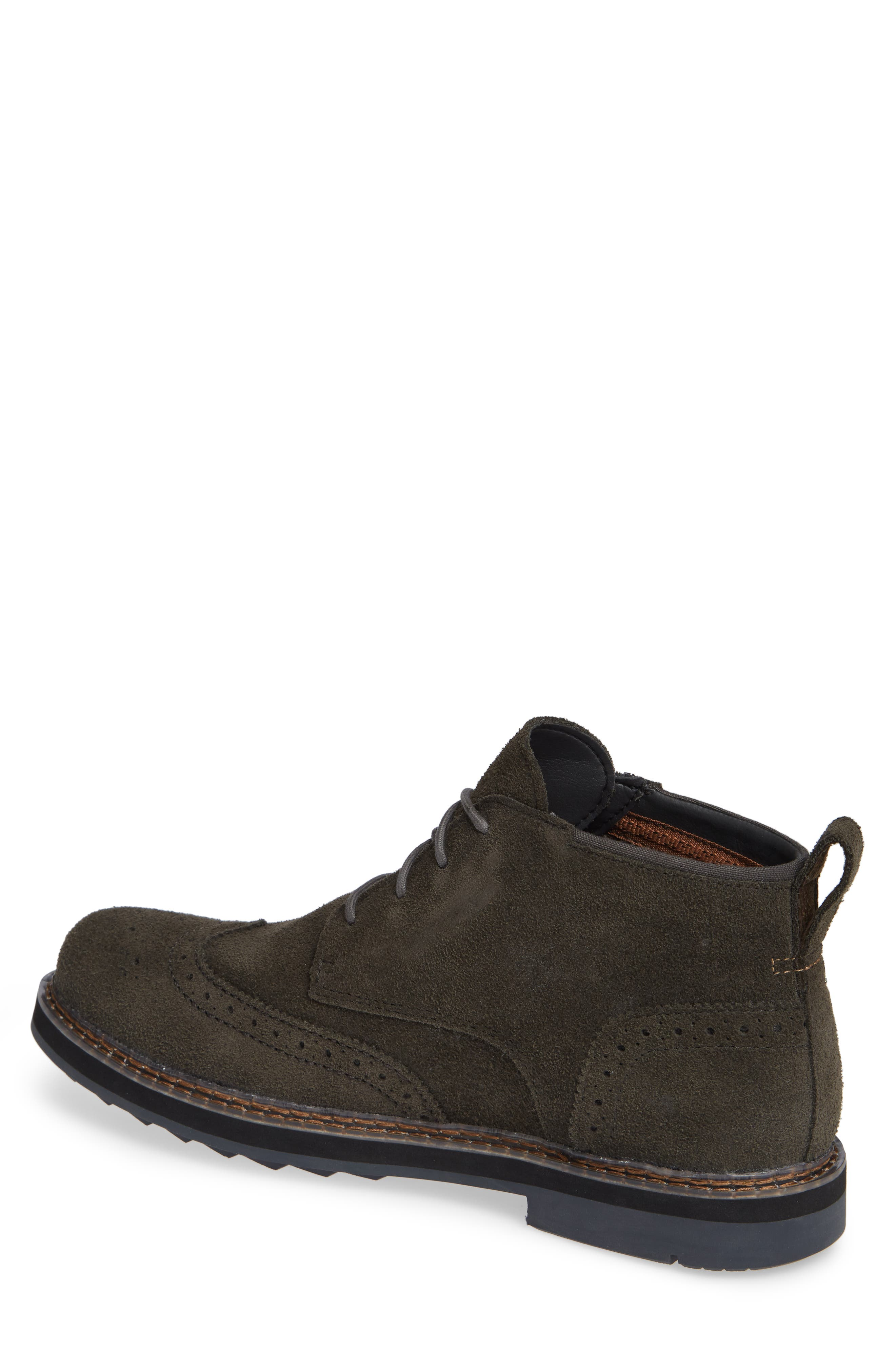 Squall Canyon Waterproof Wingtip Chukka Boot,                             Alternate thumbnail 2, color,                             VINTAGE GREEN SUEDE
