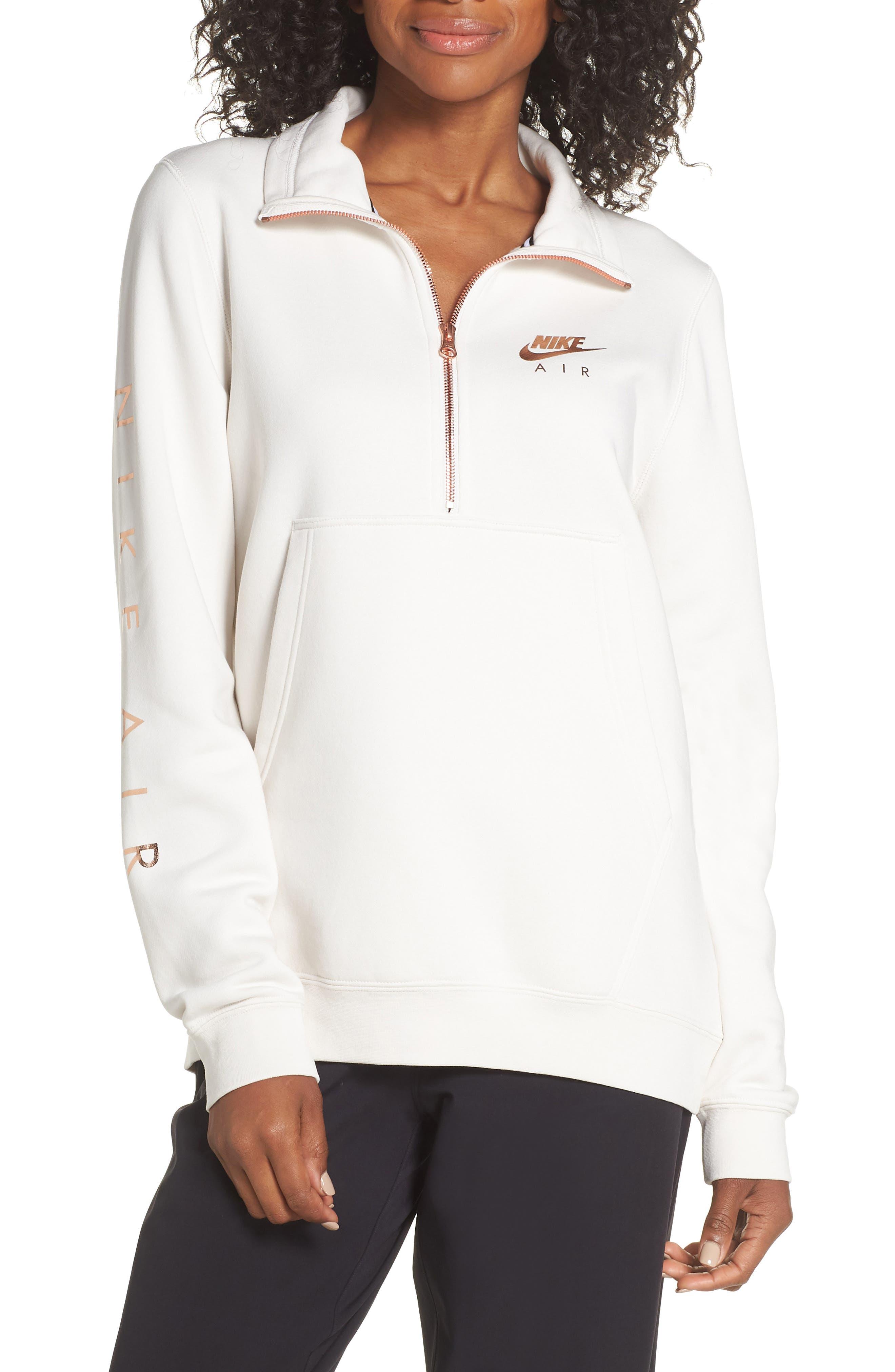 Nike Air Quarter Zip Fleece Top, Grey