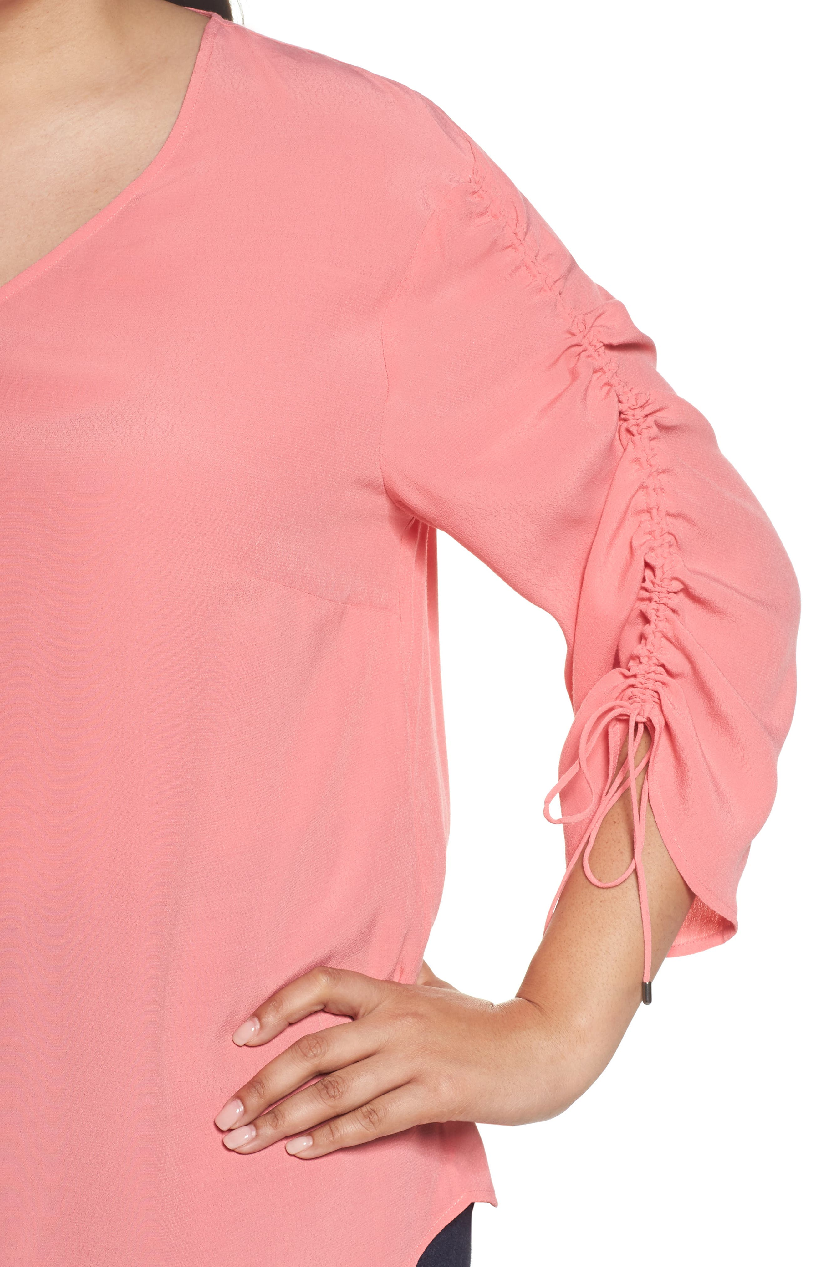 Cinched Sleeve Top,                             Alternate thumbnail 12, color,