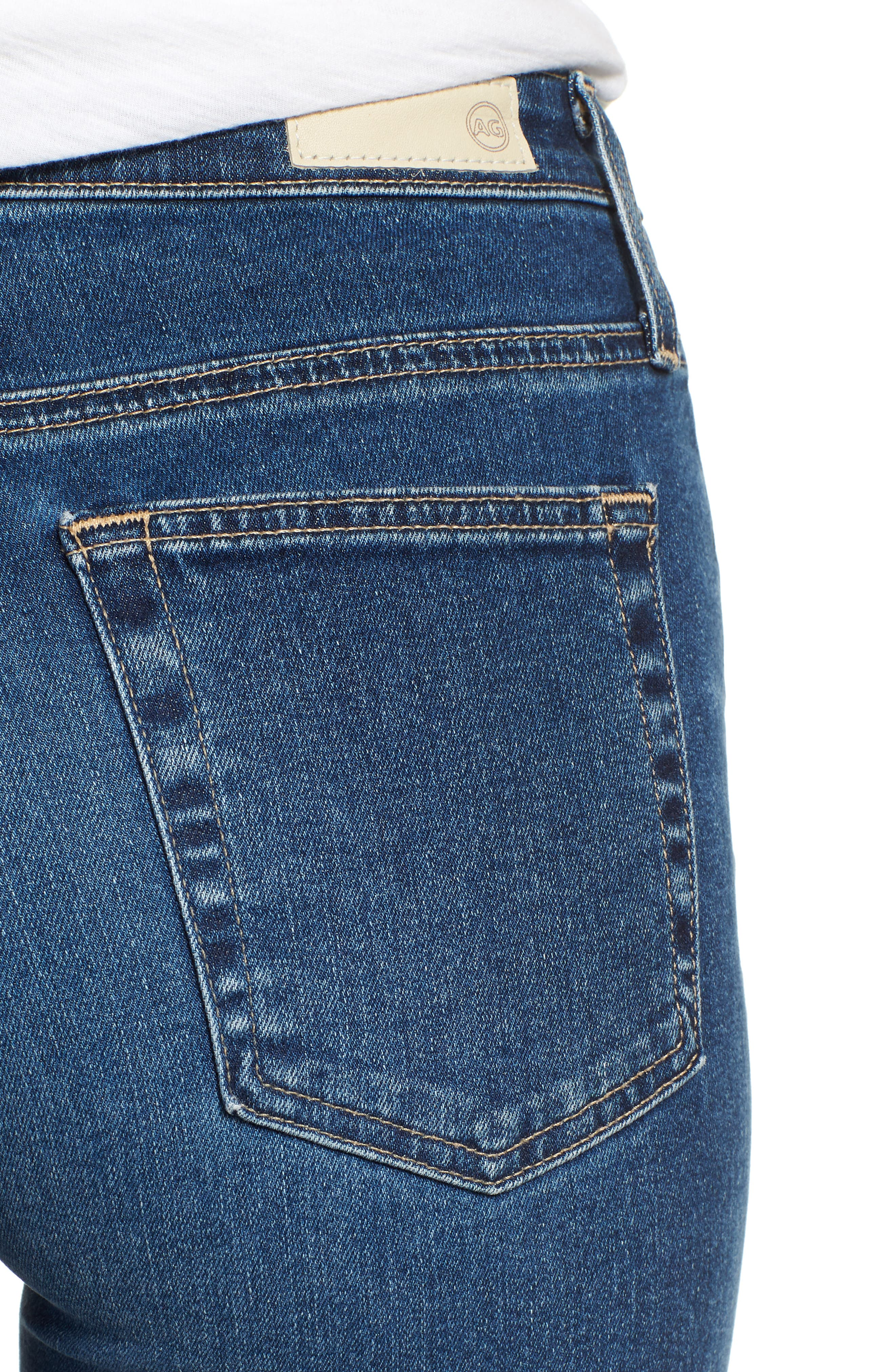 The Isabelle High Waist Crop Straight Leg Jeans,                             Alternate thumbnail 4, color,                             10 YEARS CAMBRIA
