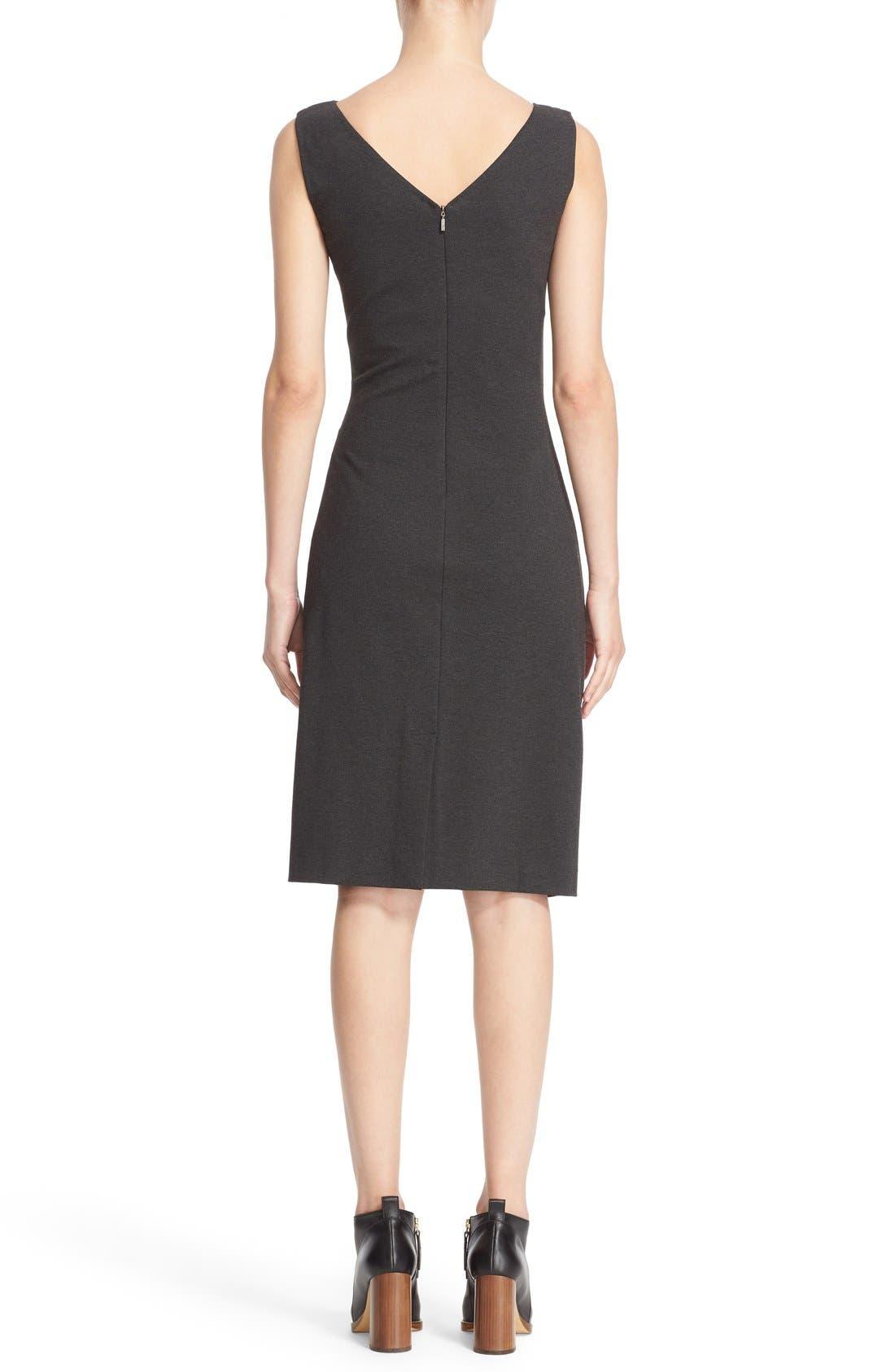 'Aligi' Sleeveless Jersey Sheath Dress,                             Alternate thumbnail 6, color,                             023