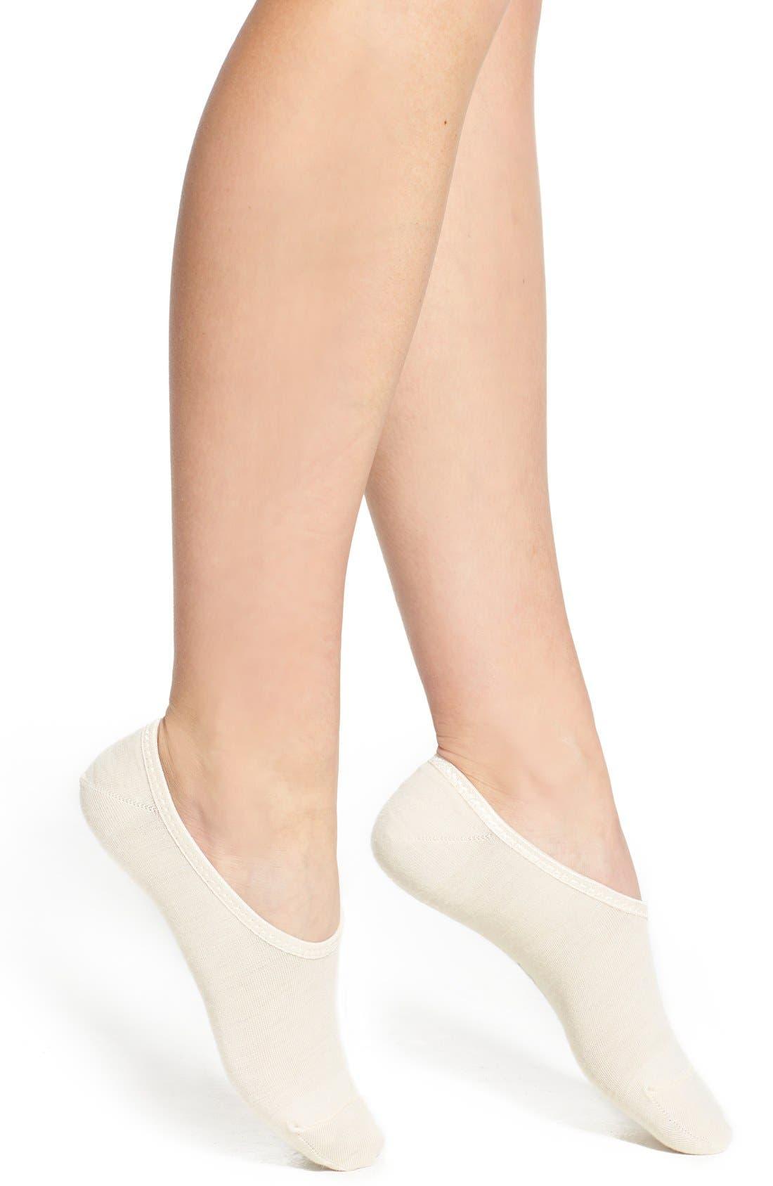 'Hide and Seek' No-Show Socks,                         Main,                         color, NATURAL