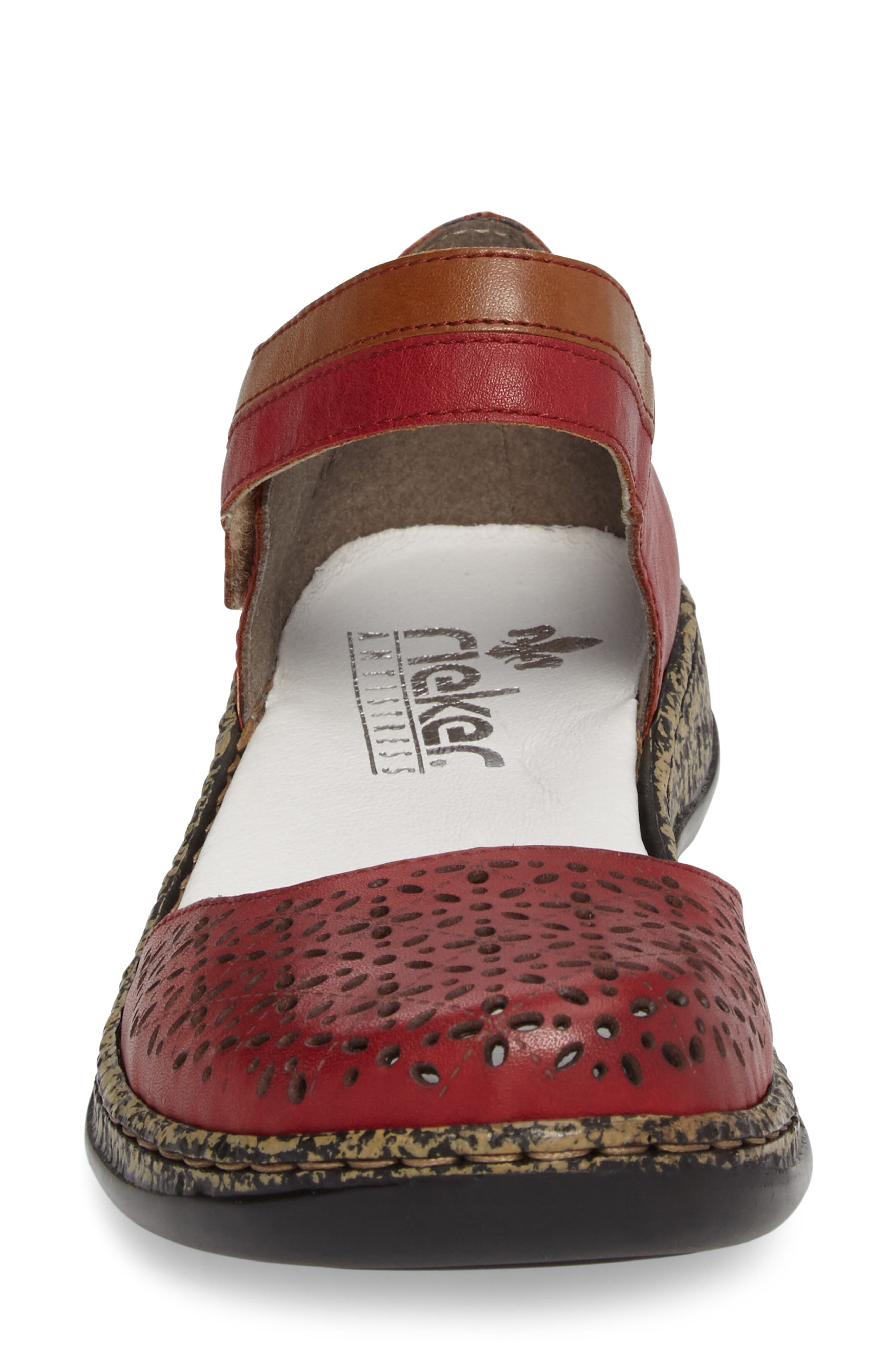 Daisy 10 Mary Jane Flat,                             Alternate thumbnail 4, color,                             ROSSO LEATHER