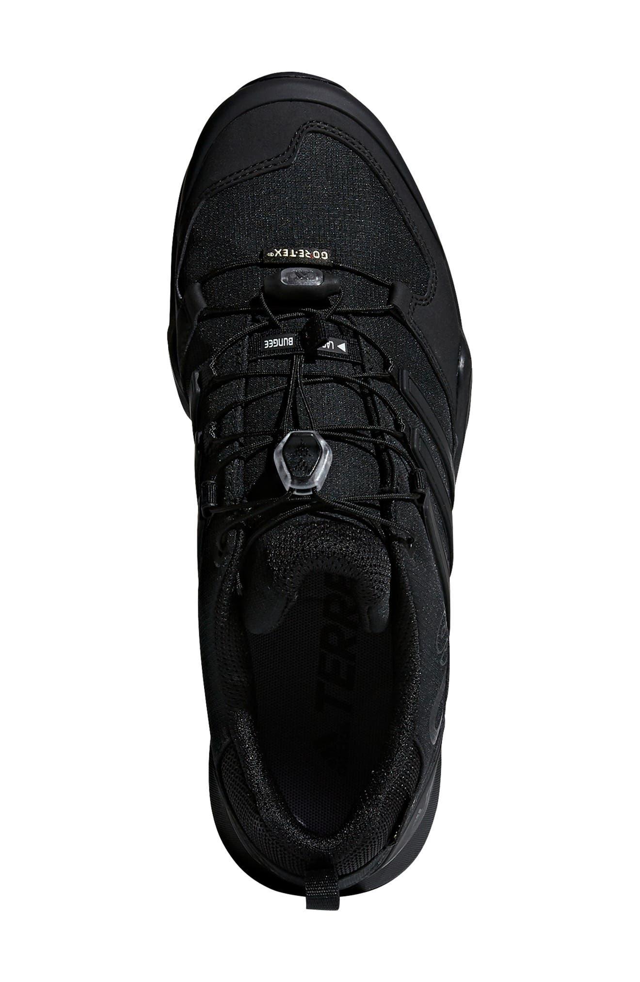 ADIDAS,                             Terrex Swift R2 GTX Gore-Tex<sup>®</sup> Waterproof Hiking Shoe,                             Alternate thumbnail 4, color,                             BLACK/ BLACK/ BLACK