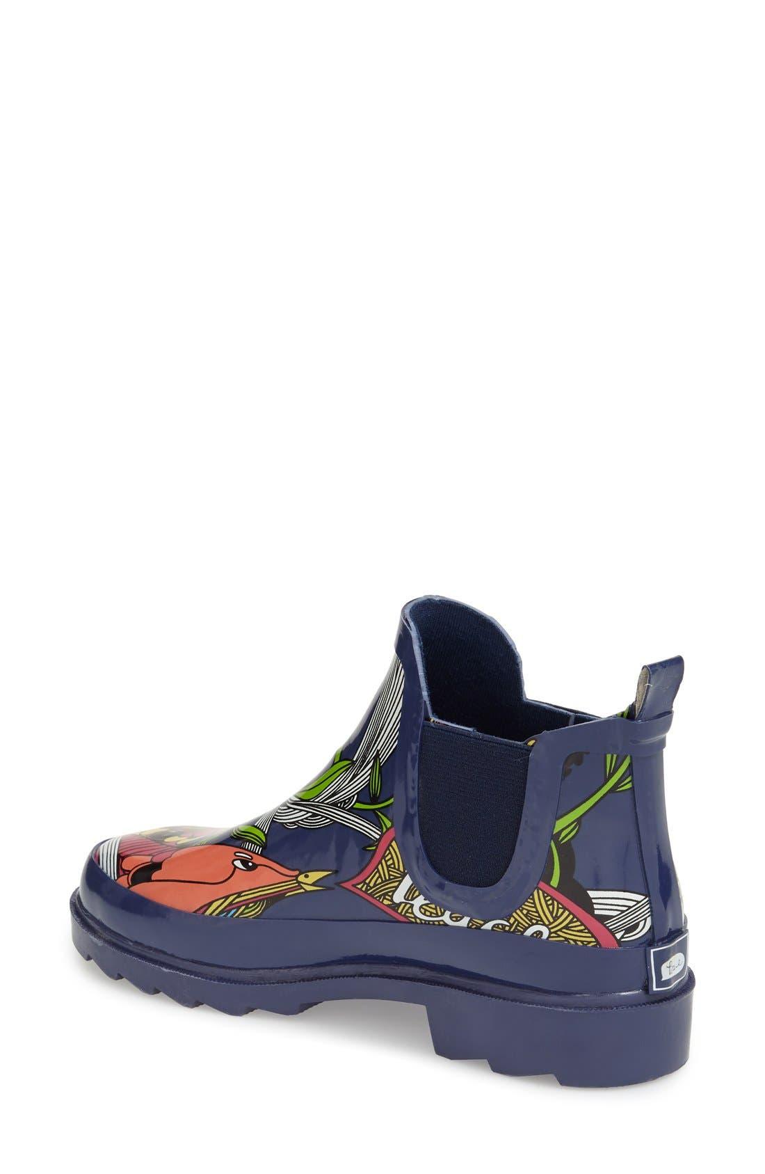 'Rhyme' Waterproof Rain Boot,                             Alternate thumbnail 37, color,