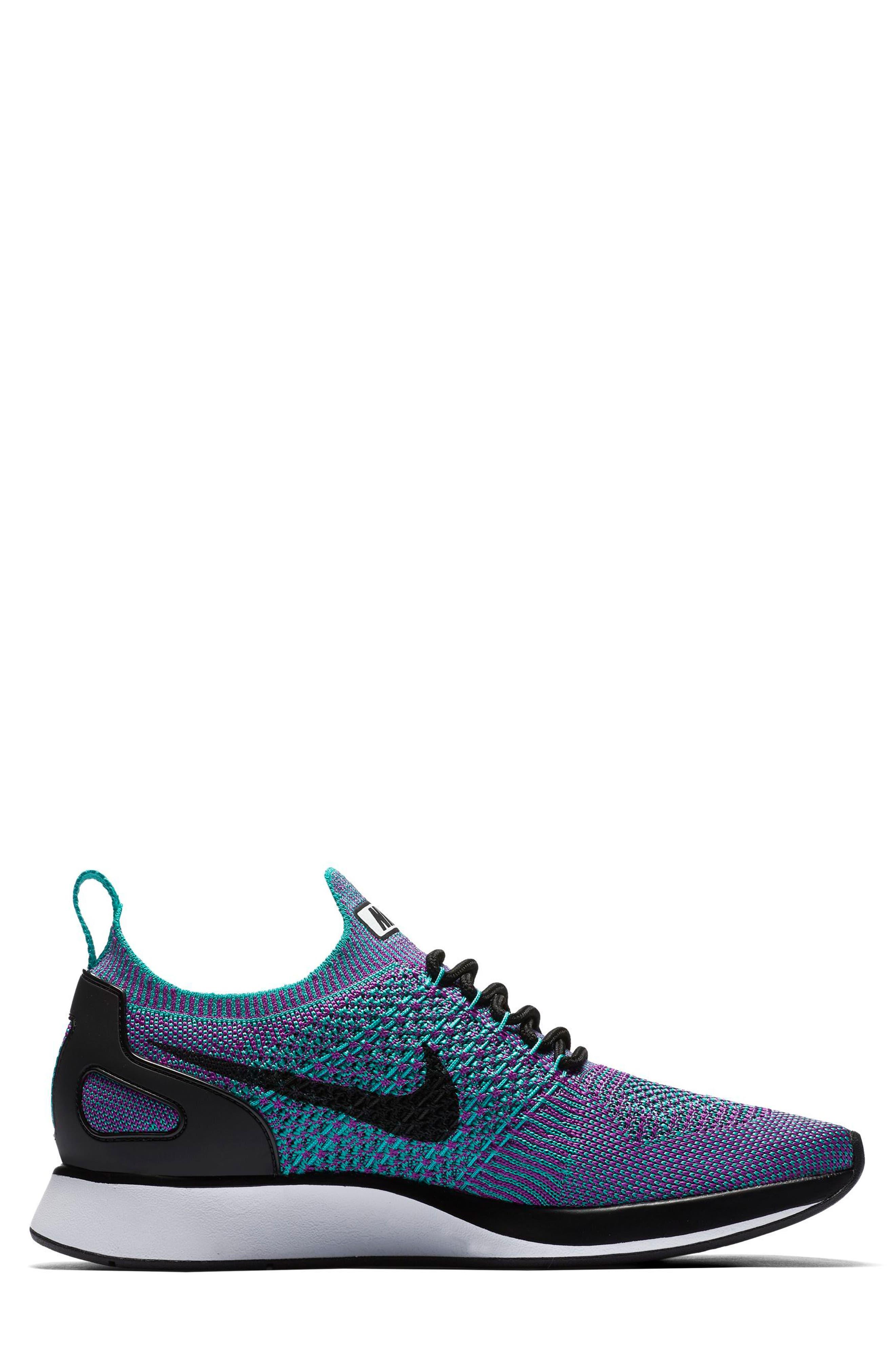 Air Zoom Mariah Flyknit Racer Sneaker,                             Alternate thumbnail 3, color,                             CLEAR JADE/ BLACK