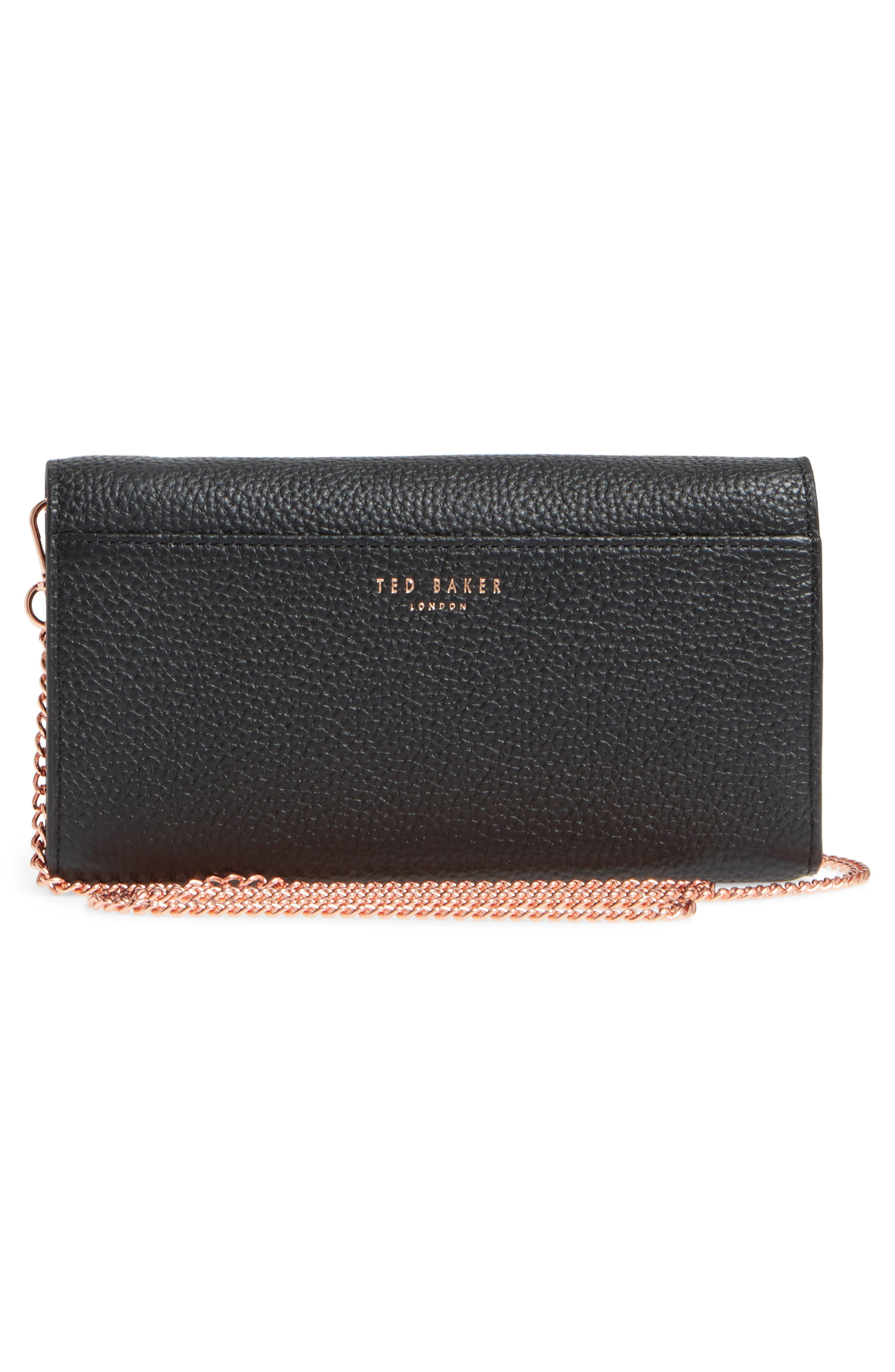 Leather Wallet on a Chain,                             Alternate thumbnail 5, color,