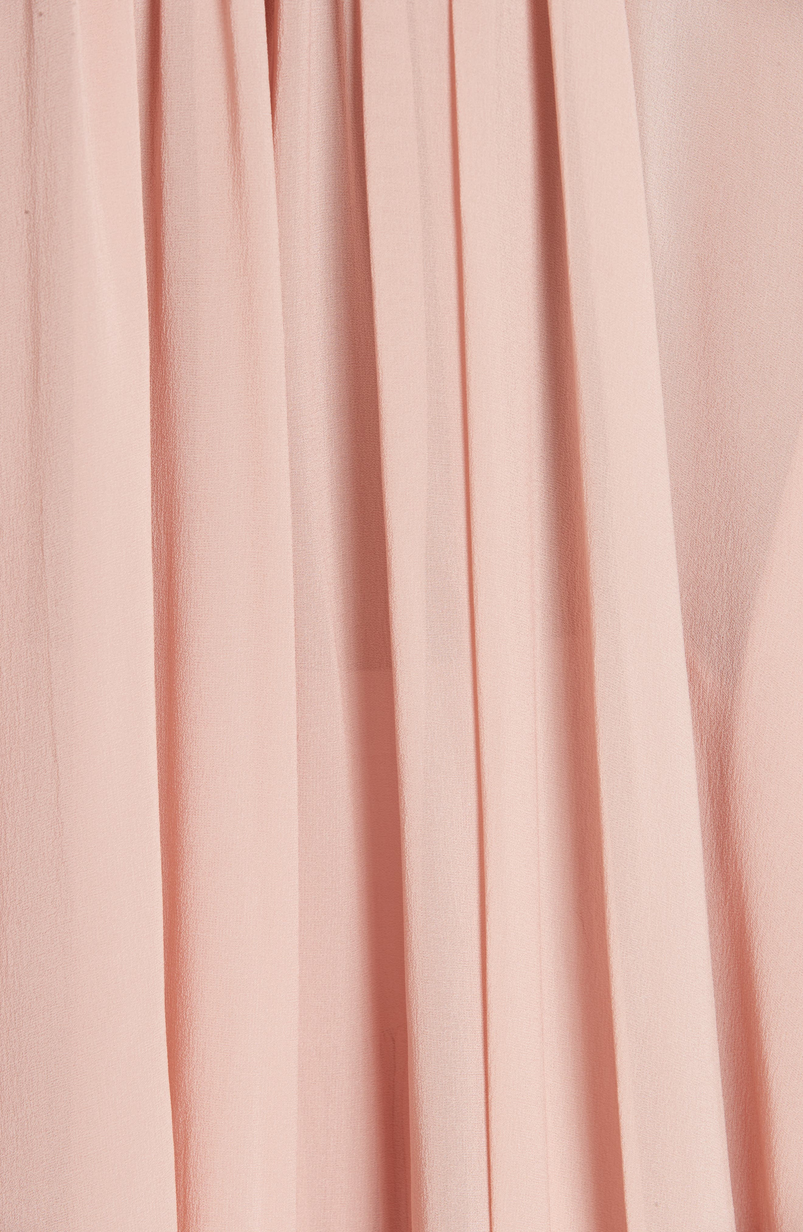 STELLA MCCARTNEY,                             Tanya Gathered Silk Top,                             Alternate thumbnail 5, color,                             650