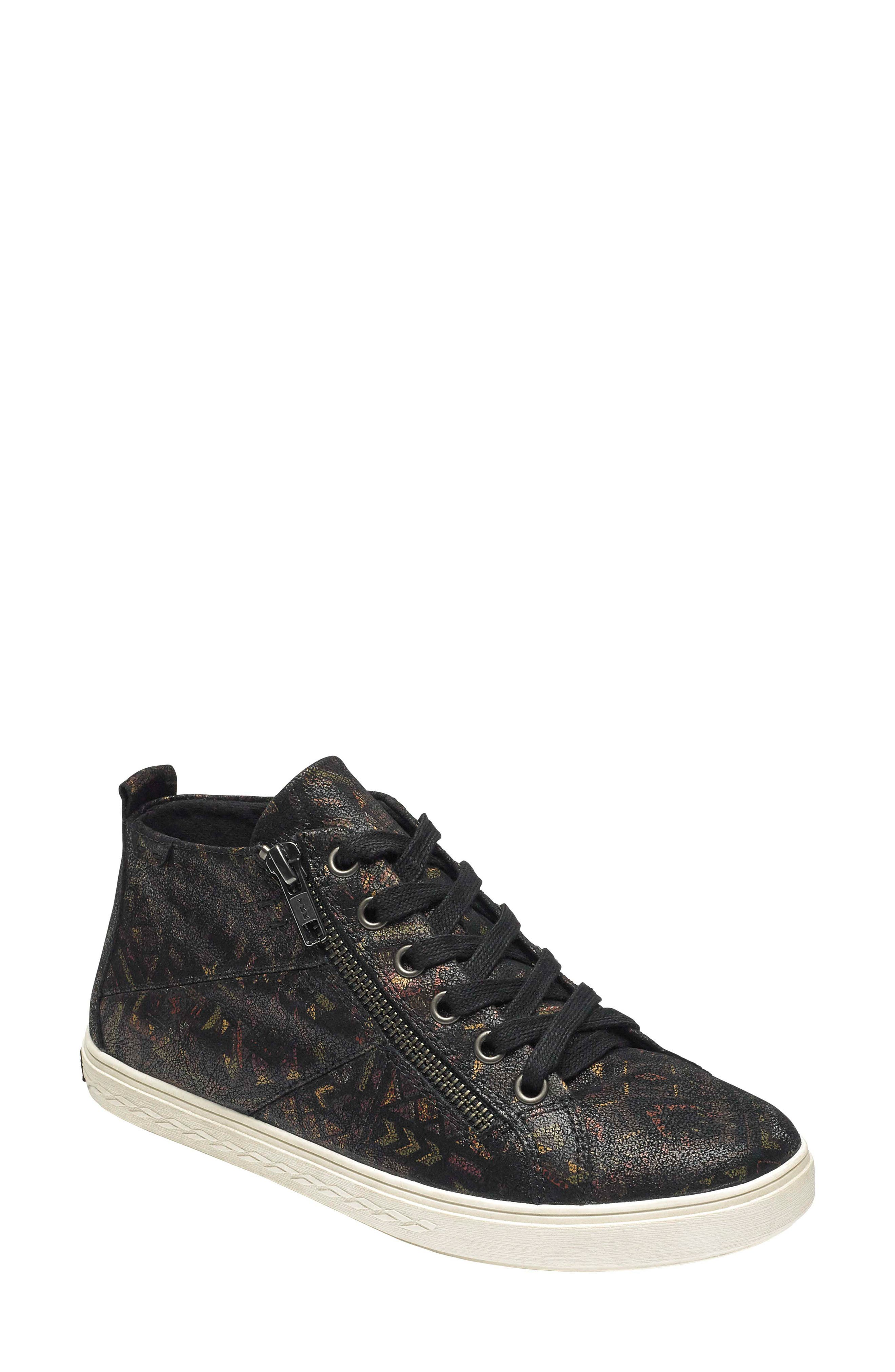 Willa High Top Sneaker,                             Main thumbnail 1, color,                             NOVELTY PRINT LEATHER
