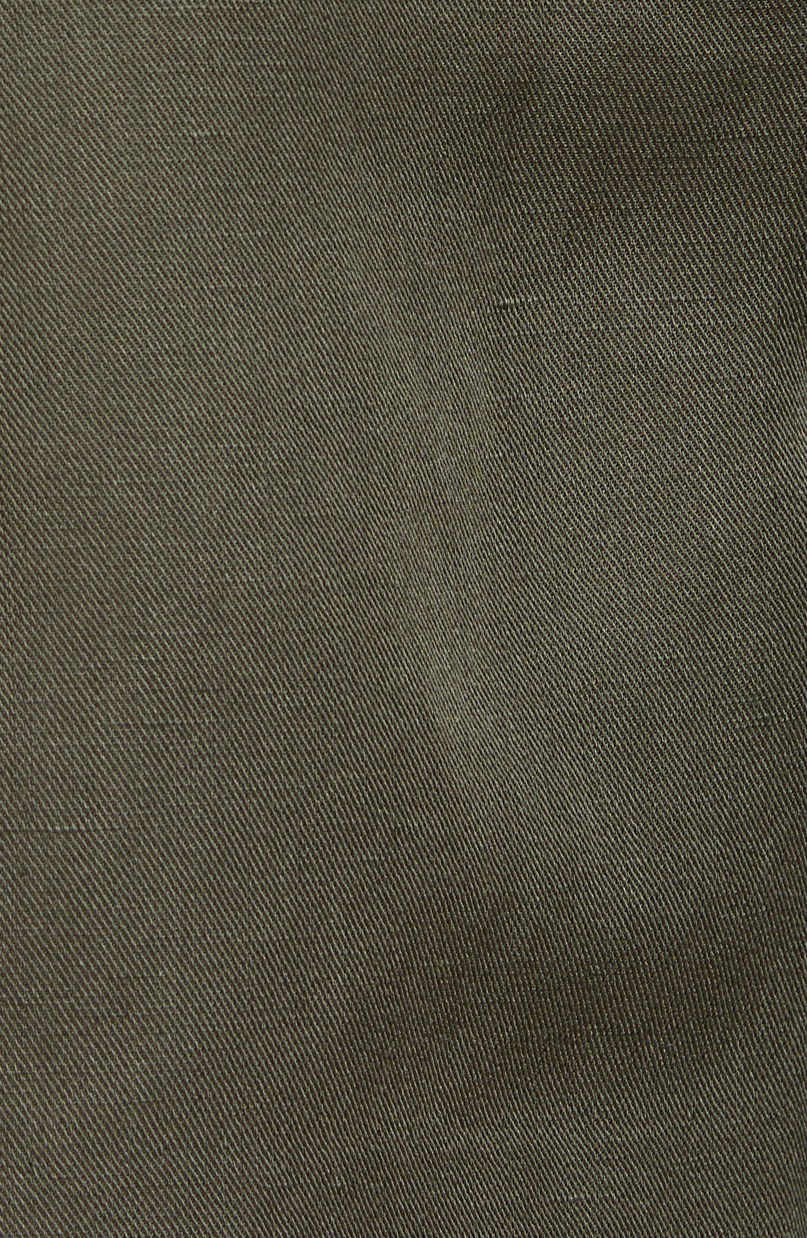 Paperbag Waist Linen & Cotton Blend Shorts,                             Alternate thumbnail 5, color,                             301
