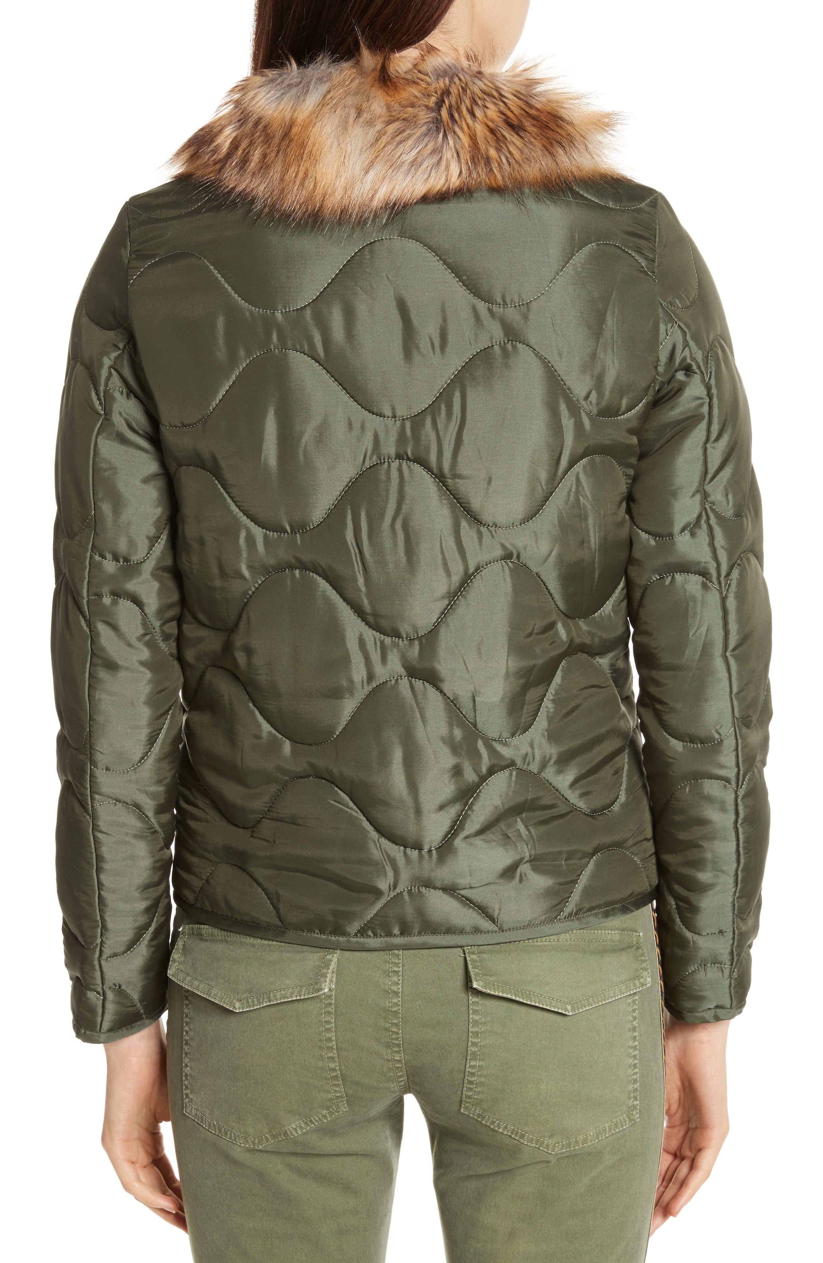 Alvy Faux Fur Collar Quilted Coat,                             Alternate thumbnail 2, color,                             310