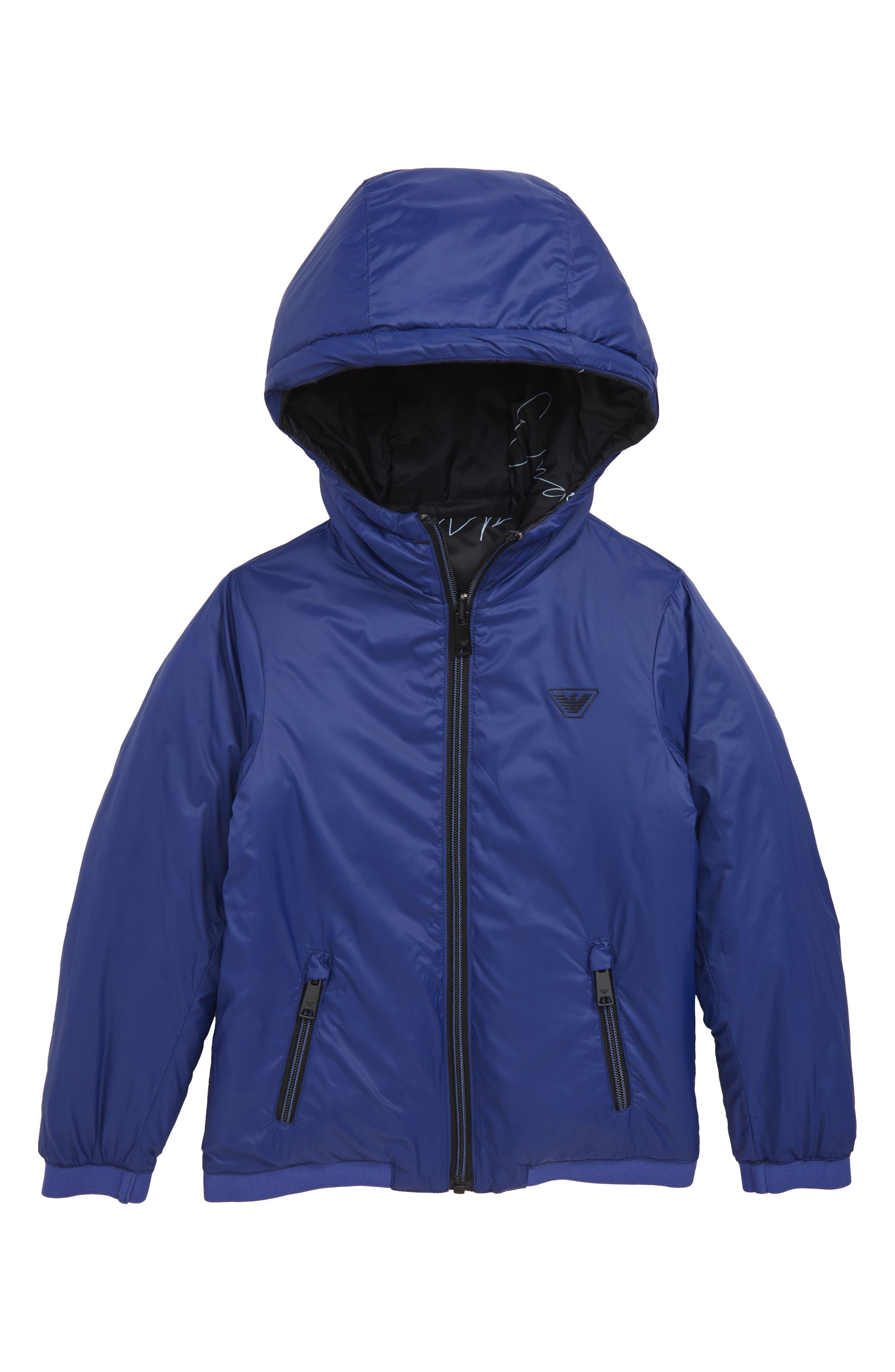 Armani Reversible Nylon Jacket,                             Alternate thumbnail 2, color,                             MULTI
