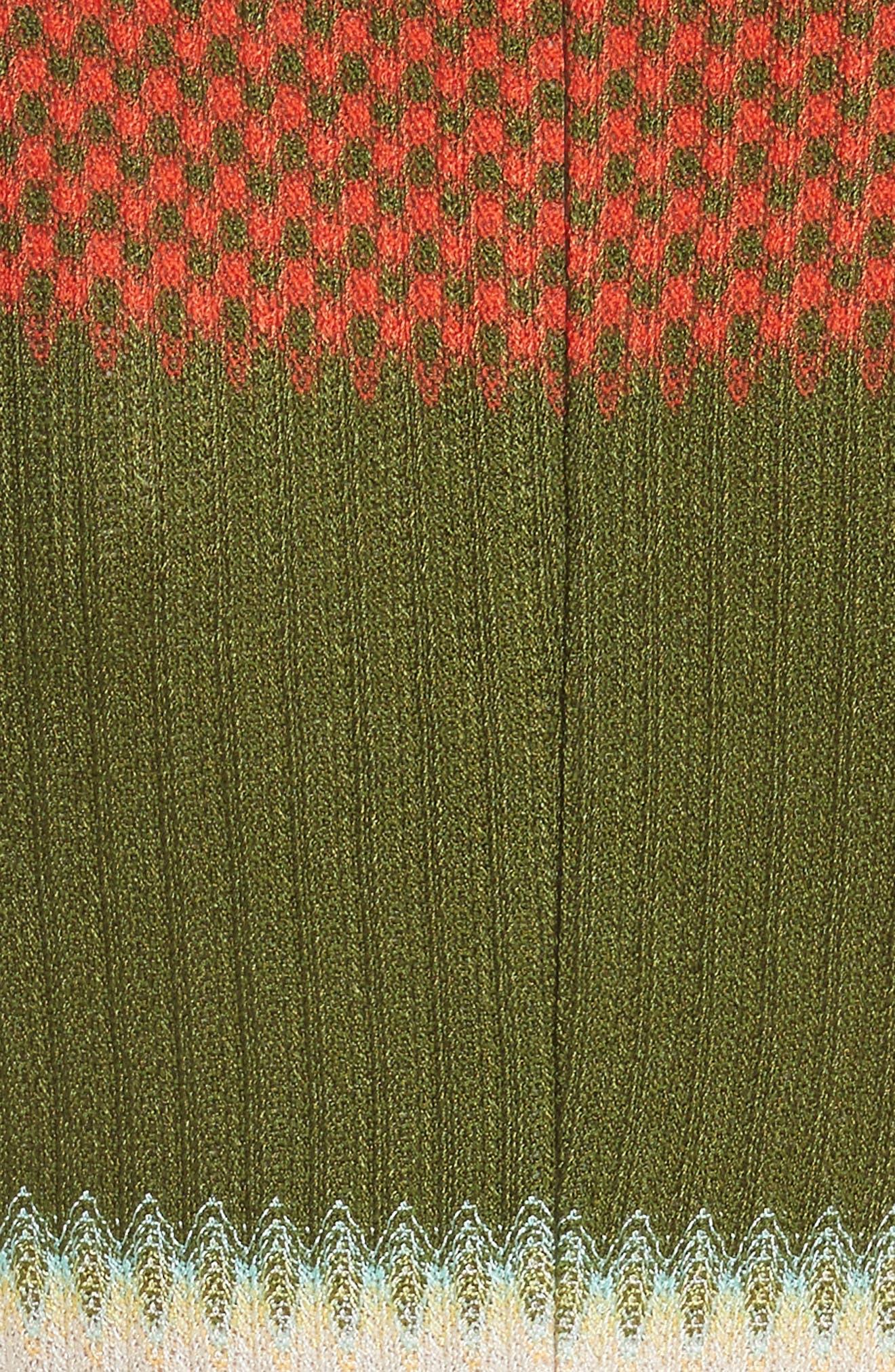 Multi Knit Flare Dress,                             Alternate thumbnail 5, color,                             540