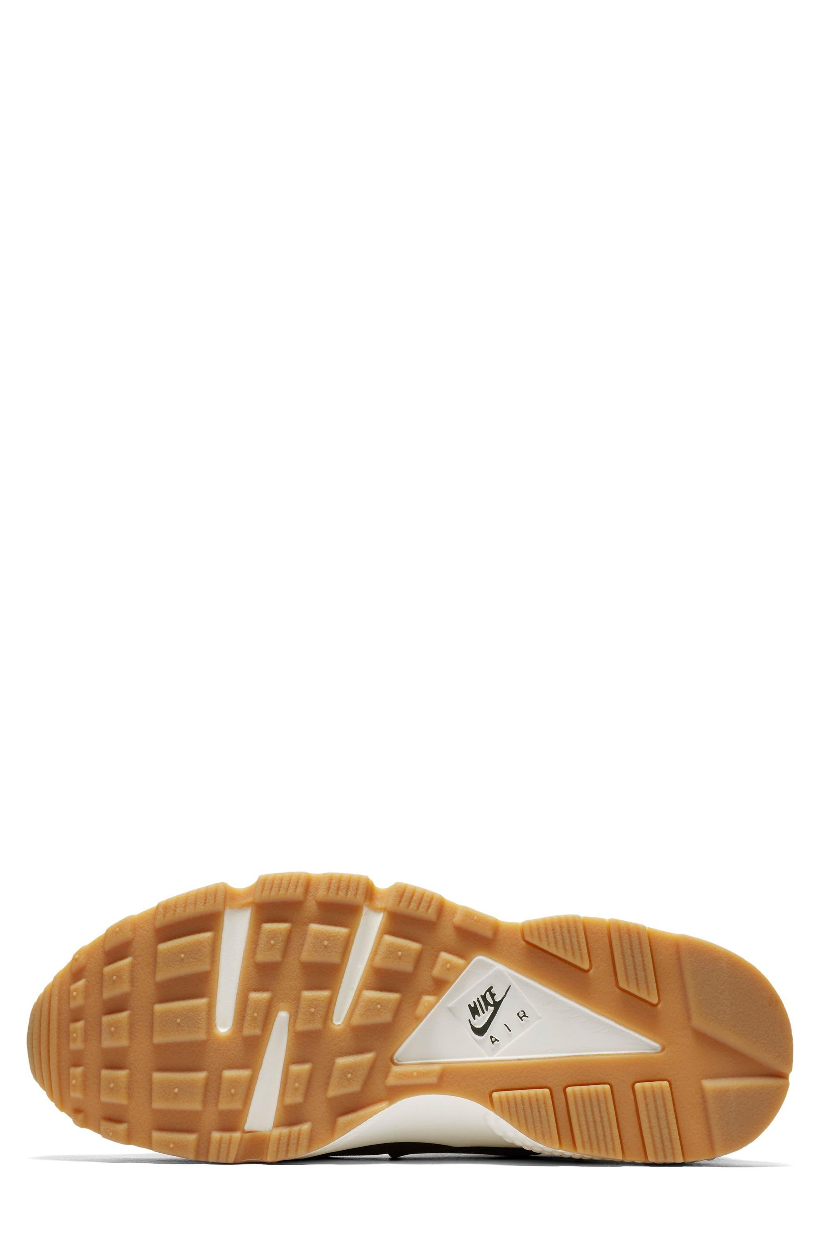 Air Huarache Run SD Sneaker,                             Alternate thumbnail 6, color,                             001
