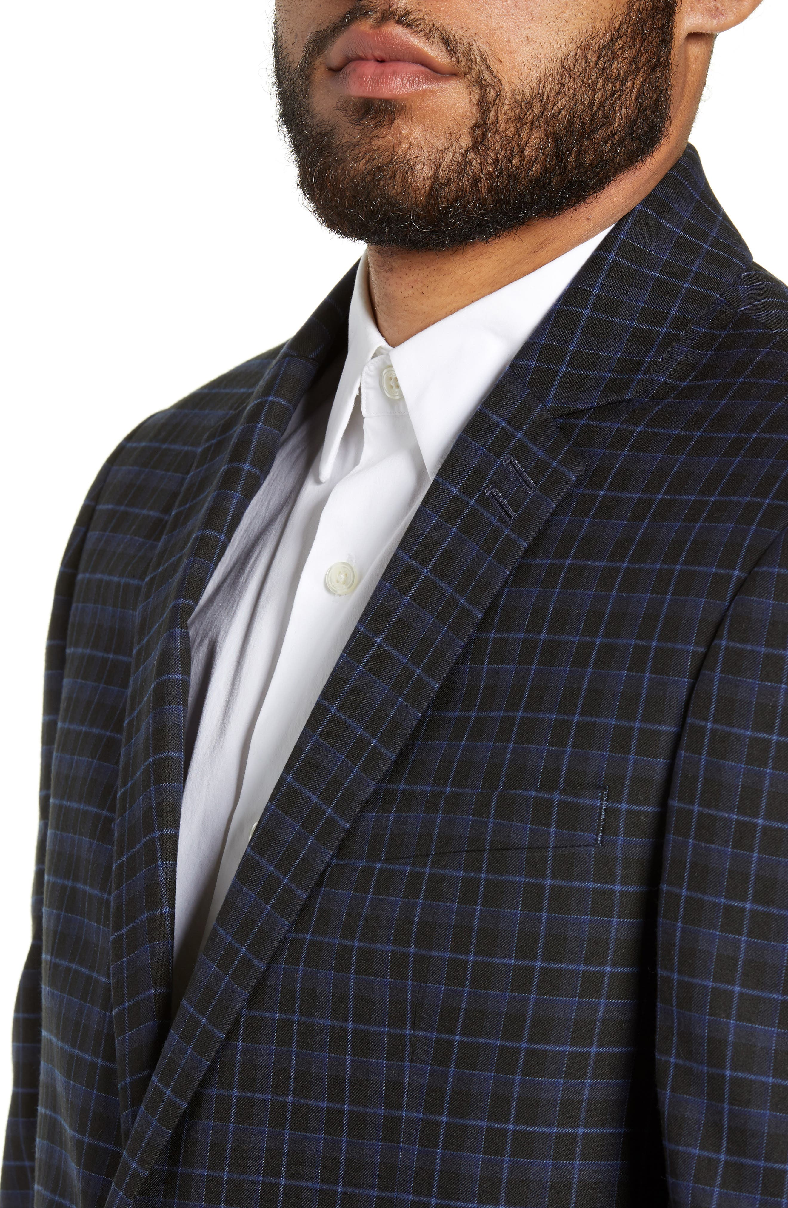 Alsager Slim Fit Check Suit Jacket,                             Alternate thumbnail 4, color,                             021
