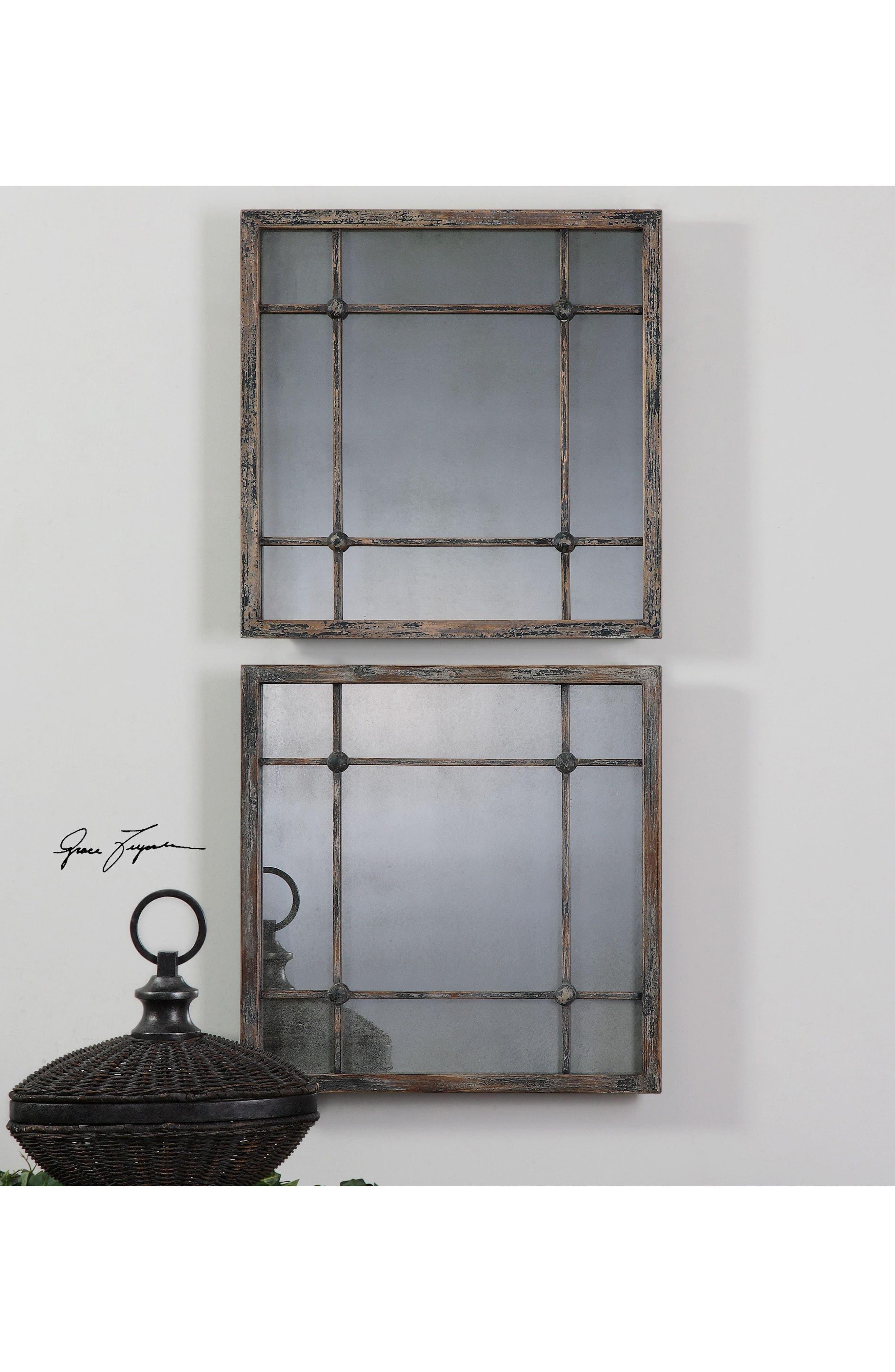 'Saragano' Square Mirror,                             Alternate thumbnail 3, color,