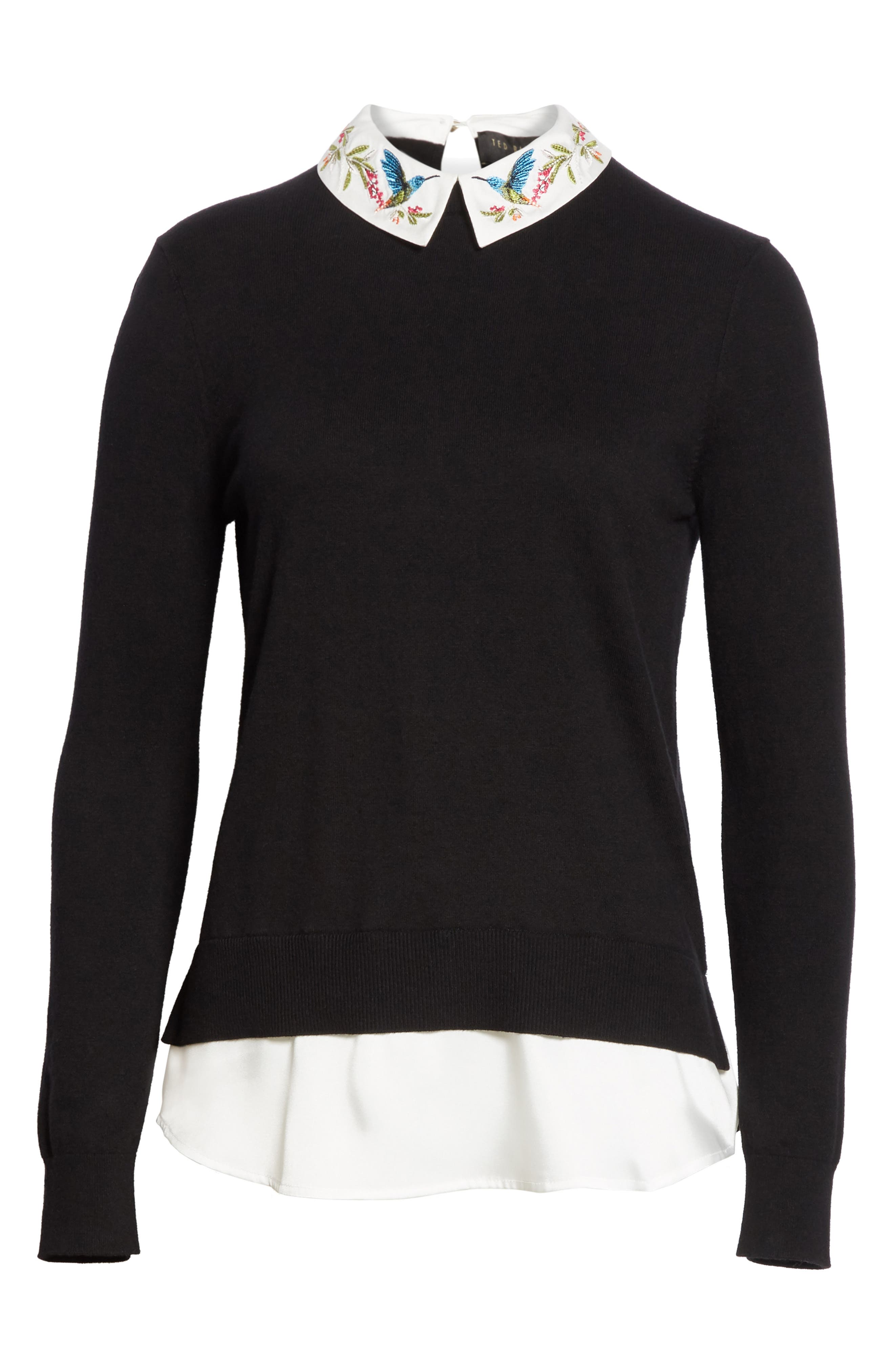 Highgrove Layered Look Sweater,                             Alternate thumbnail 6, color,