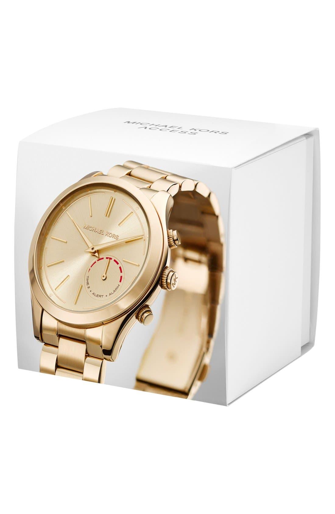 MICHAEL Michael Kors Slim Runway Smart Watch, 42mm,                             Alternate thumbnail 4, color,                             GOLD
