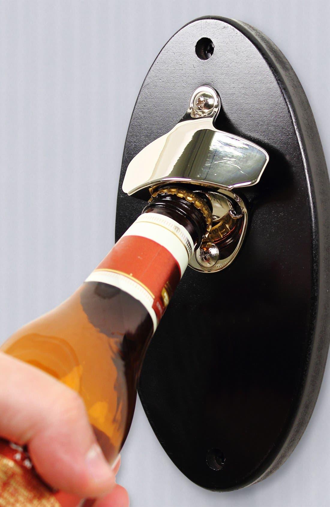 Monogram Wall Mount Bottle Opener,                             Alternate thumbnail 2, color,                             000