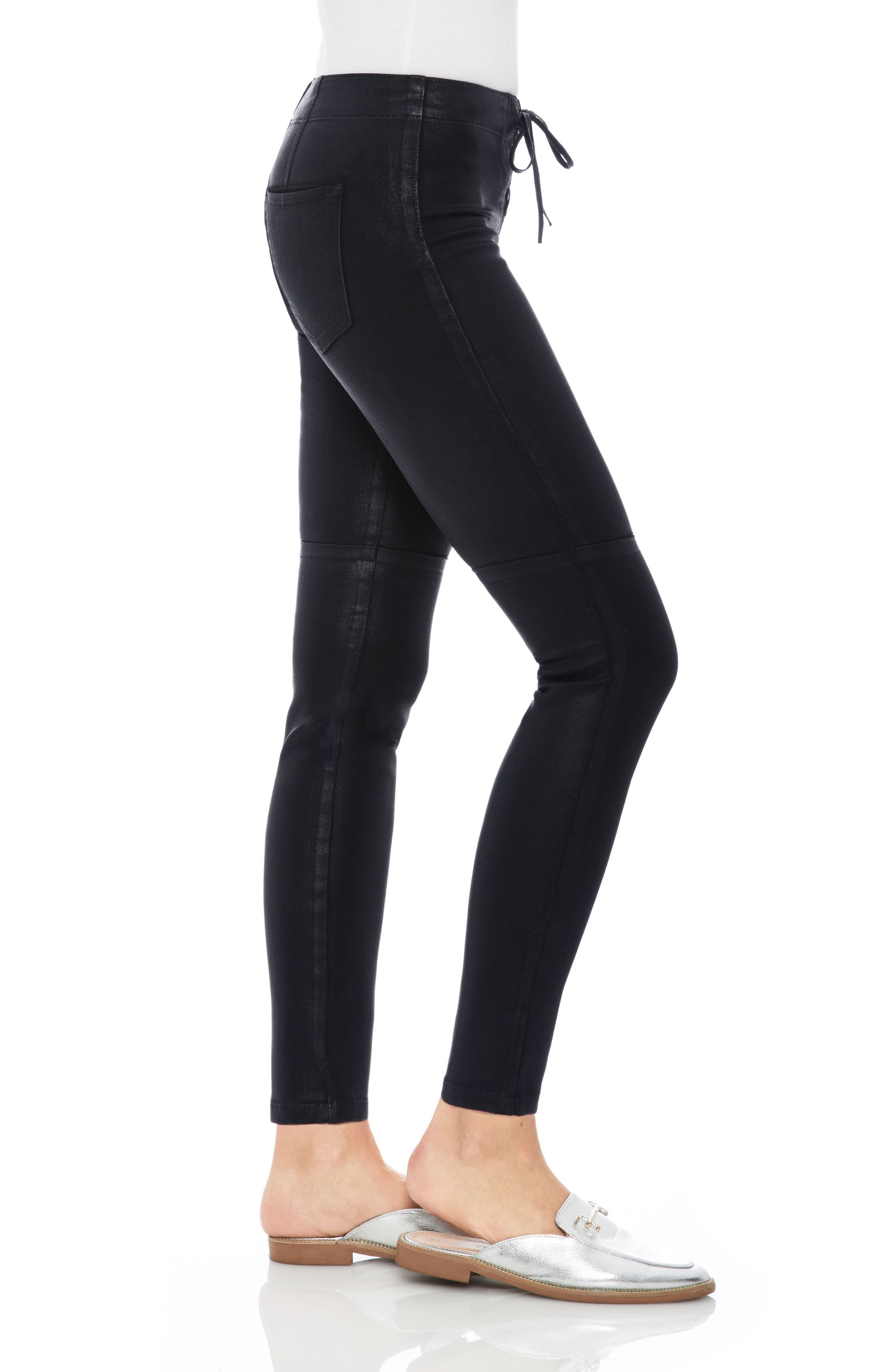 Taylor Hill x Joe's Icon Coated Ankle Skinny Pants,                             Alternate thumbnail 3, color,                             011