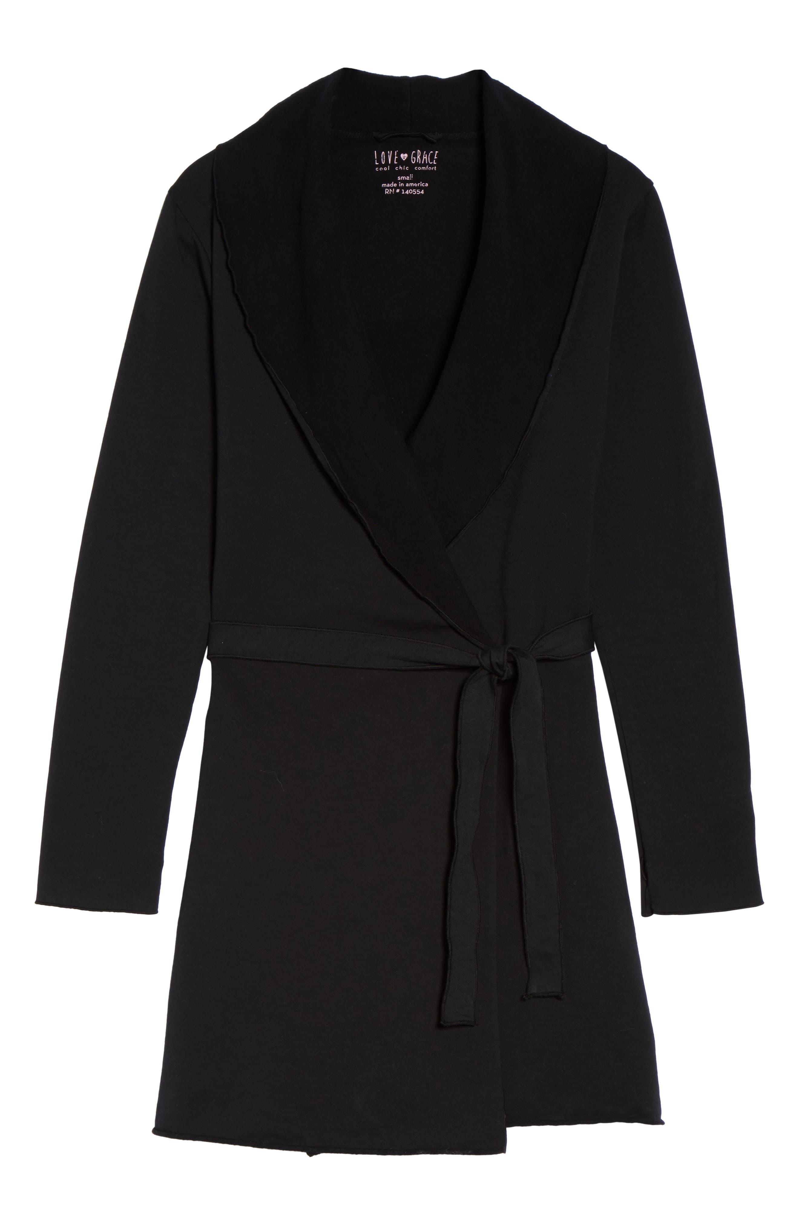 Willa Fleece Short Robe,                             Alternate thumbnail 11, color,