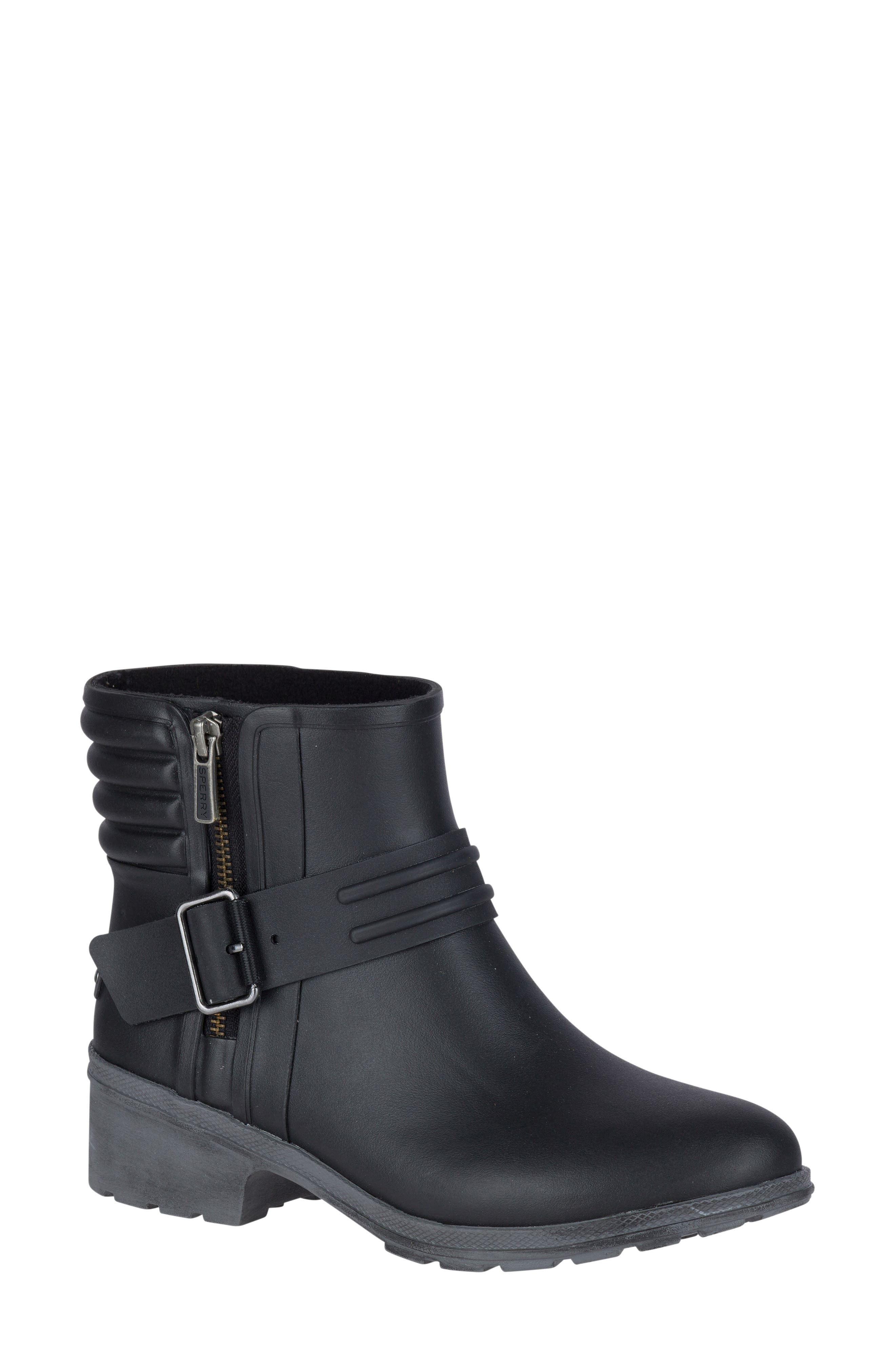 Aeriel Beck Waterproof Bootie,                             Main thumbnail 1, color,                             001
