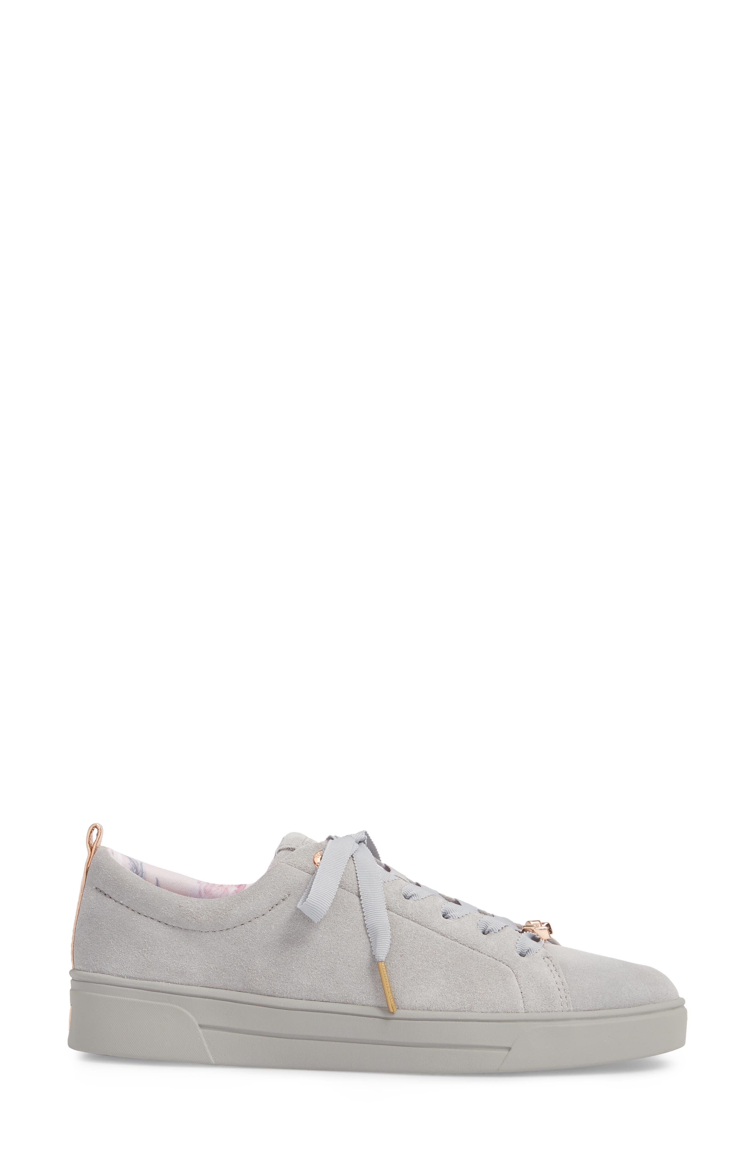 Kelleis Sneaker,                             Alternate thumbnail 3, color,                             LIGHT GREY SUEDE