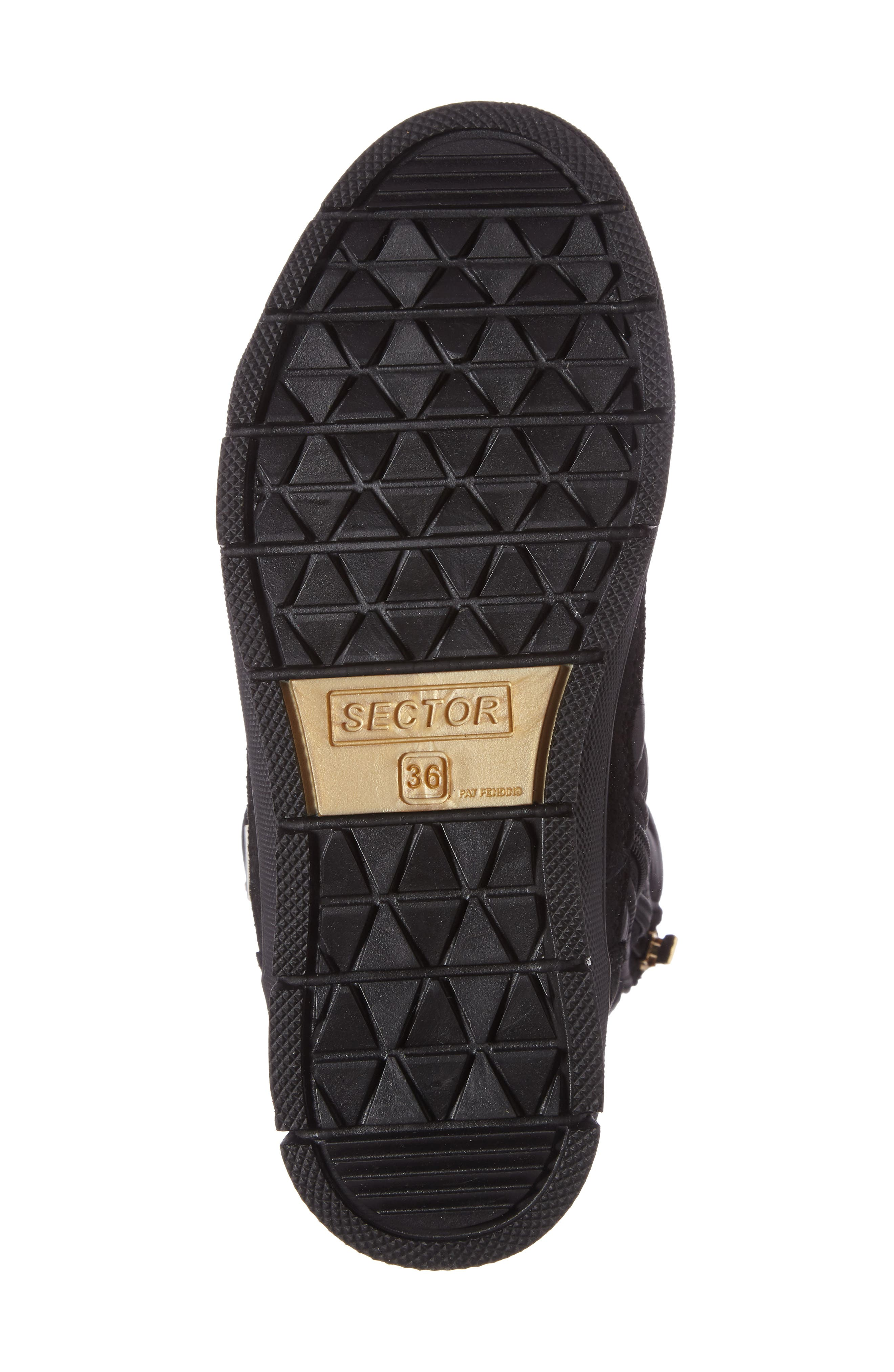 Verbier Waterproof Boot,                             Alternate thumbnail 4, color,                             BLACK / GOLD SWAROVSKI