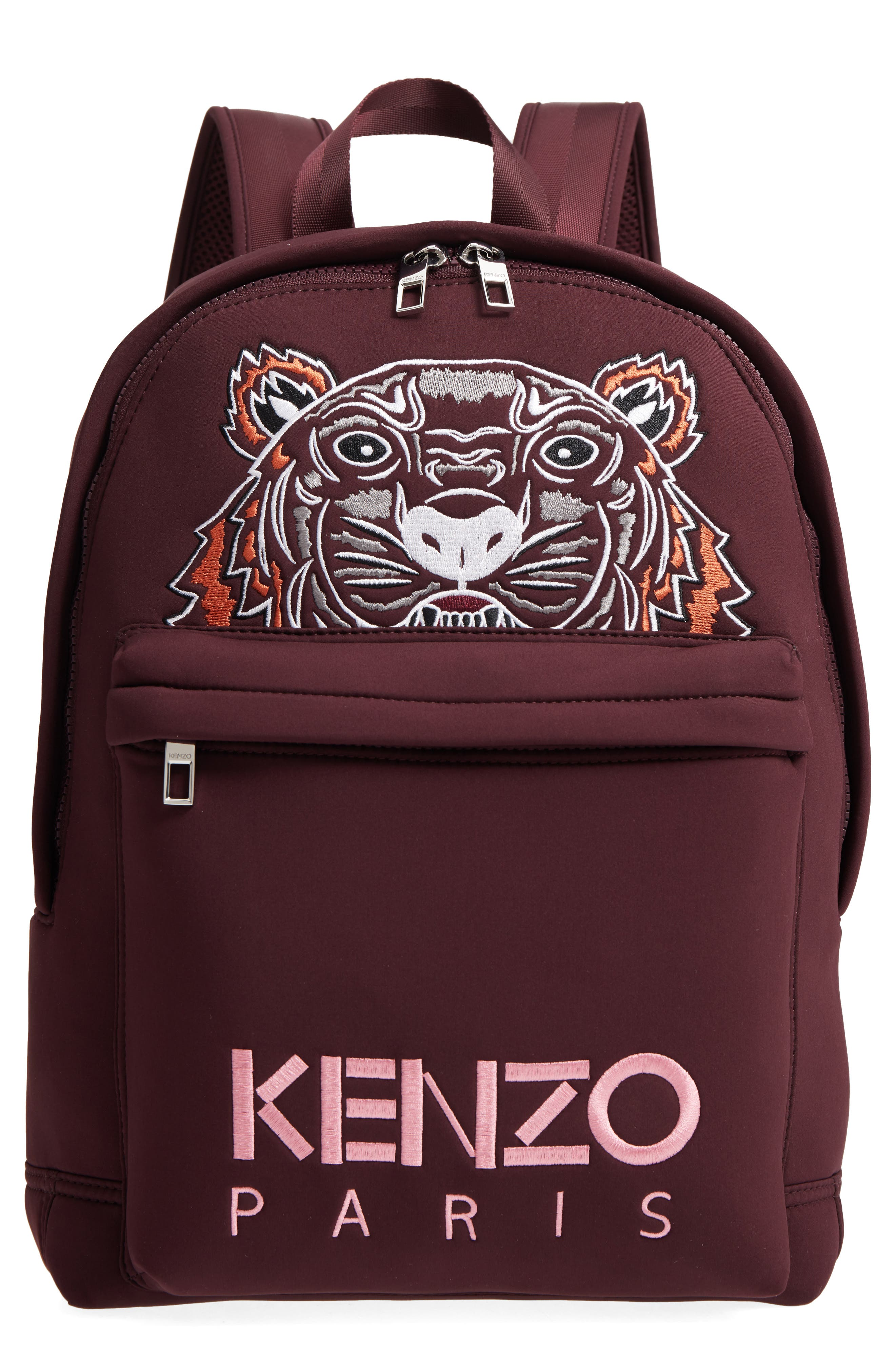 Icon Embroidered Tiger,                         Main,                         color, BORDEAUX