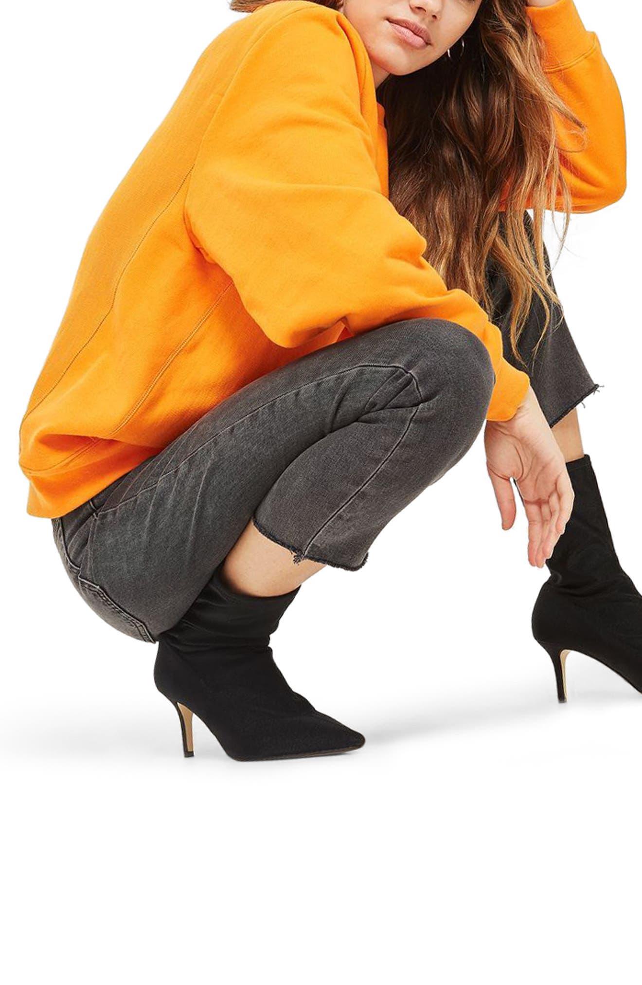Raw Hem Straight Leg Jeans,                             Alternate thumbnail 3, color,                             021
