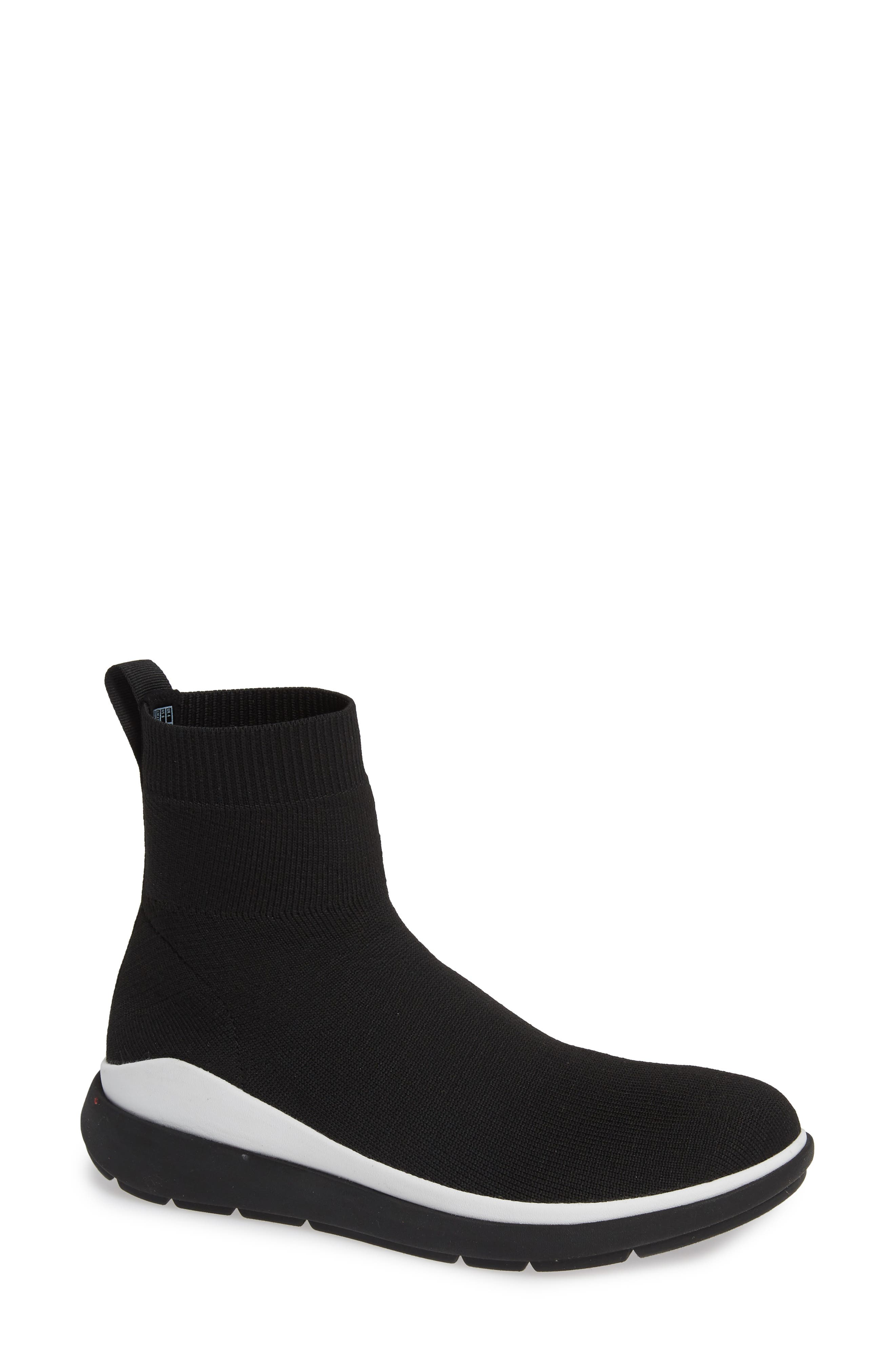 Fitflop Loosh Luxe Rapid Knit Bootie, Black