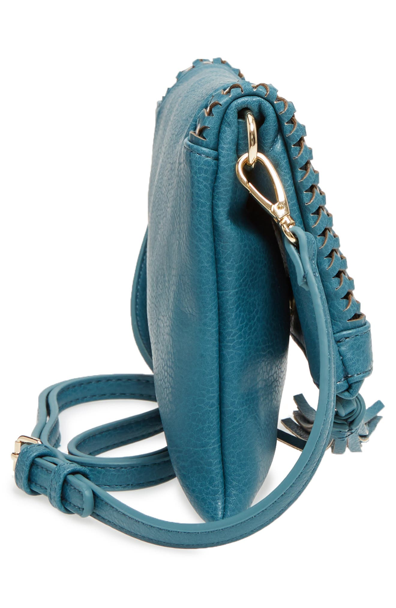 Tara Whipstitched Faux Leather Clutch,                             Alternate thumbnail 10, color,