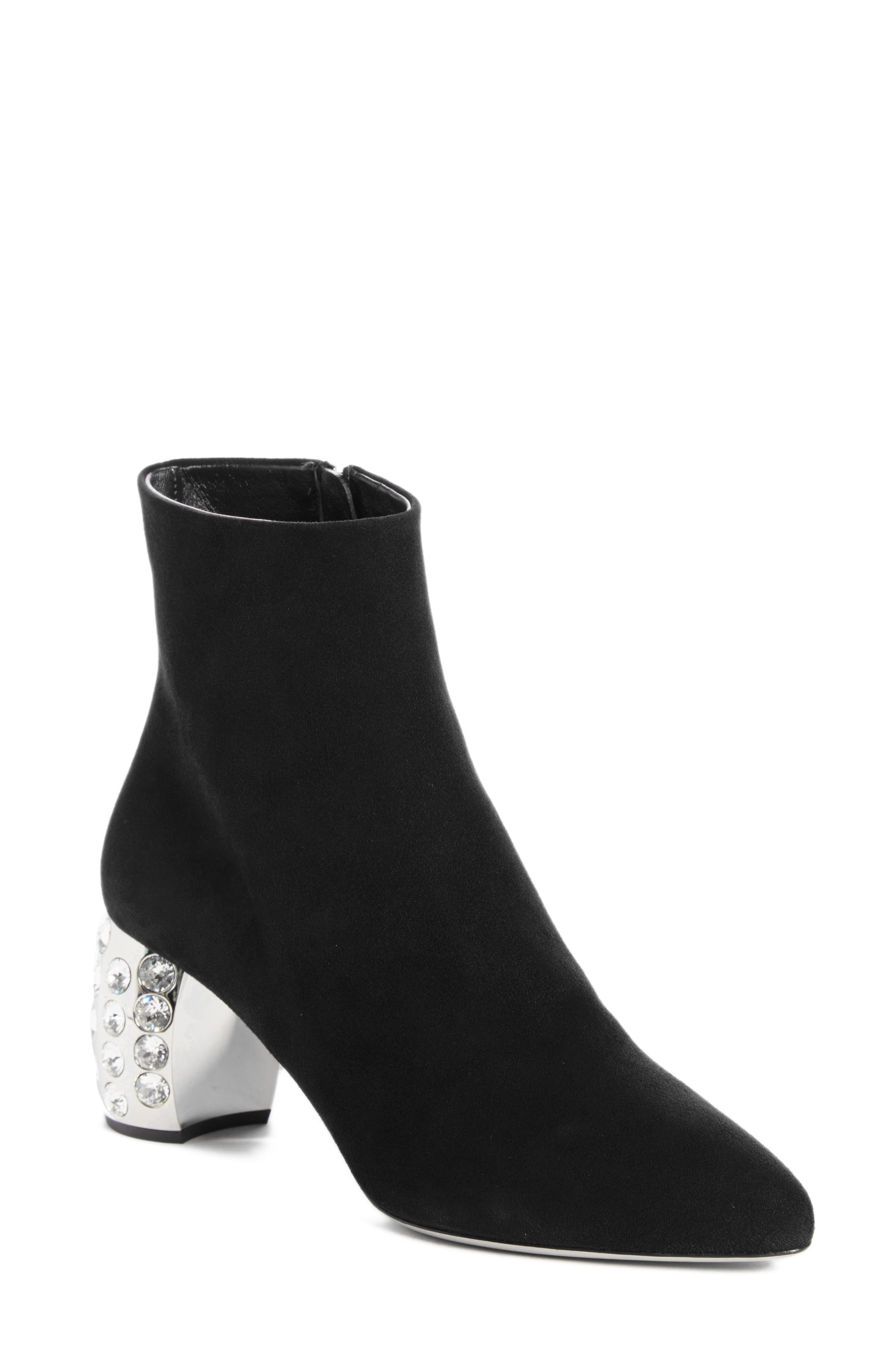 Embellished Block Heel Boot,                             Main thumbnail 1, color,                             001