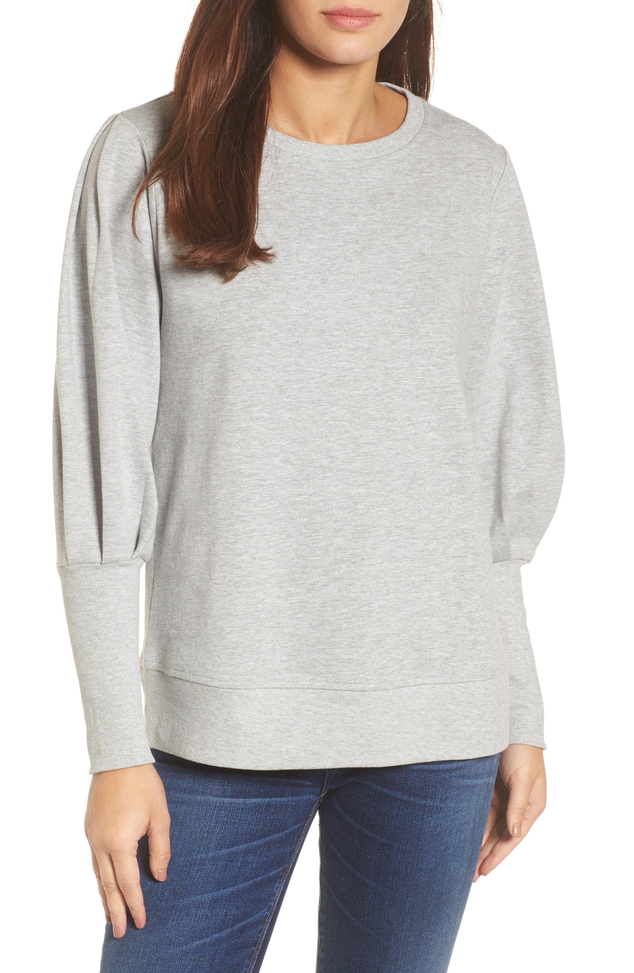Blouson Sleeve Sweatshirt,                             Main thumbnail 2, color,