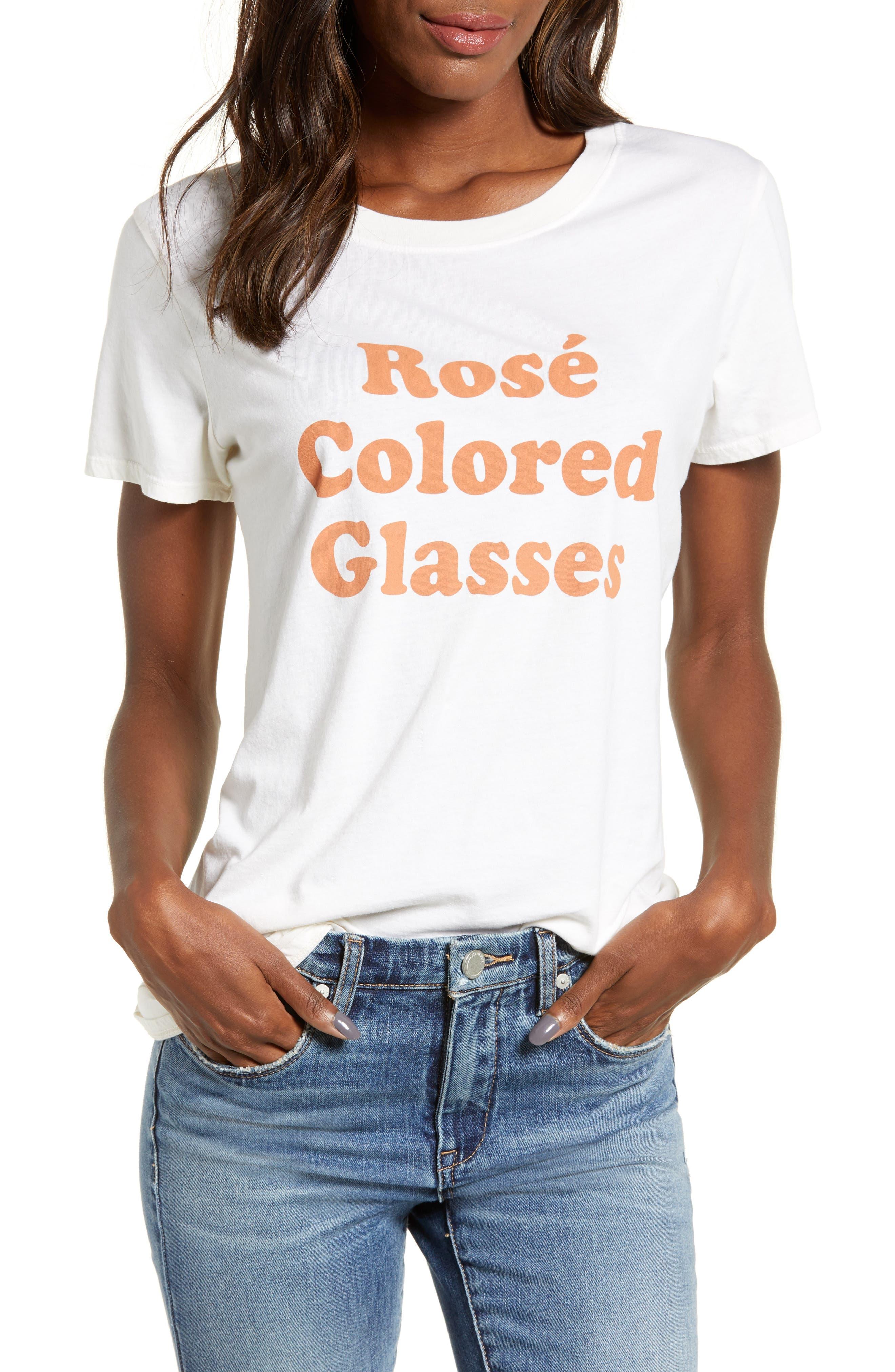 SUB_URBAN RIOT Rose Colored Glasses in Antique White