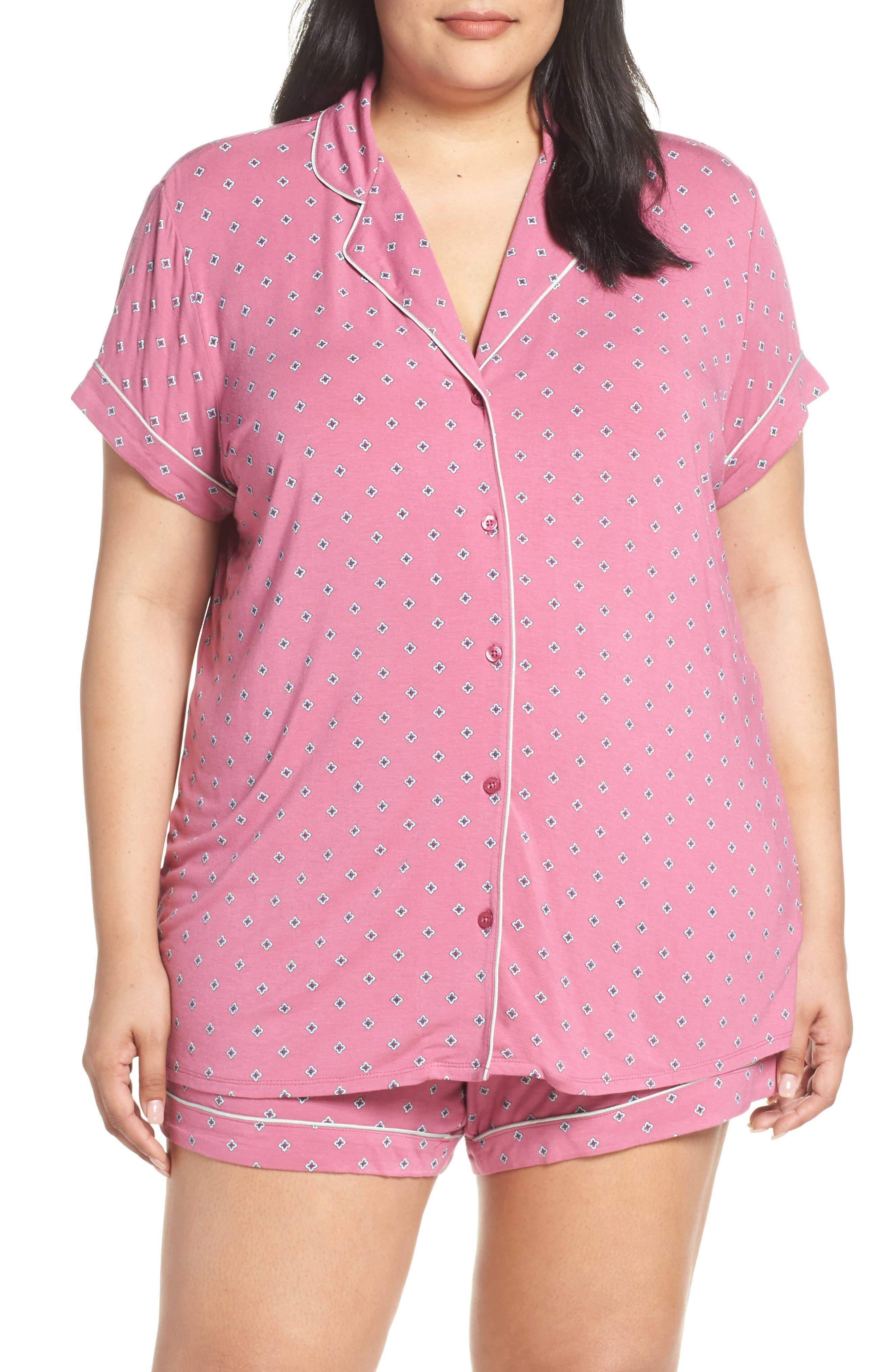 Plus Size Nordstrom Lingerie Moonlight Short Pajamas, Pink