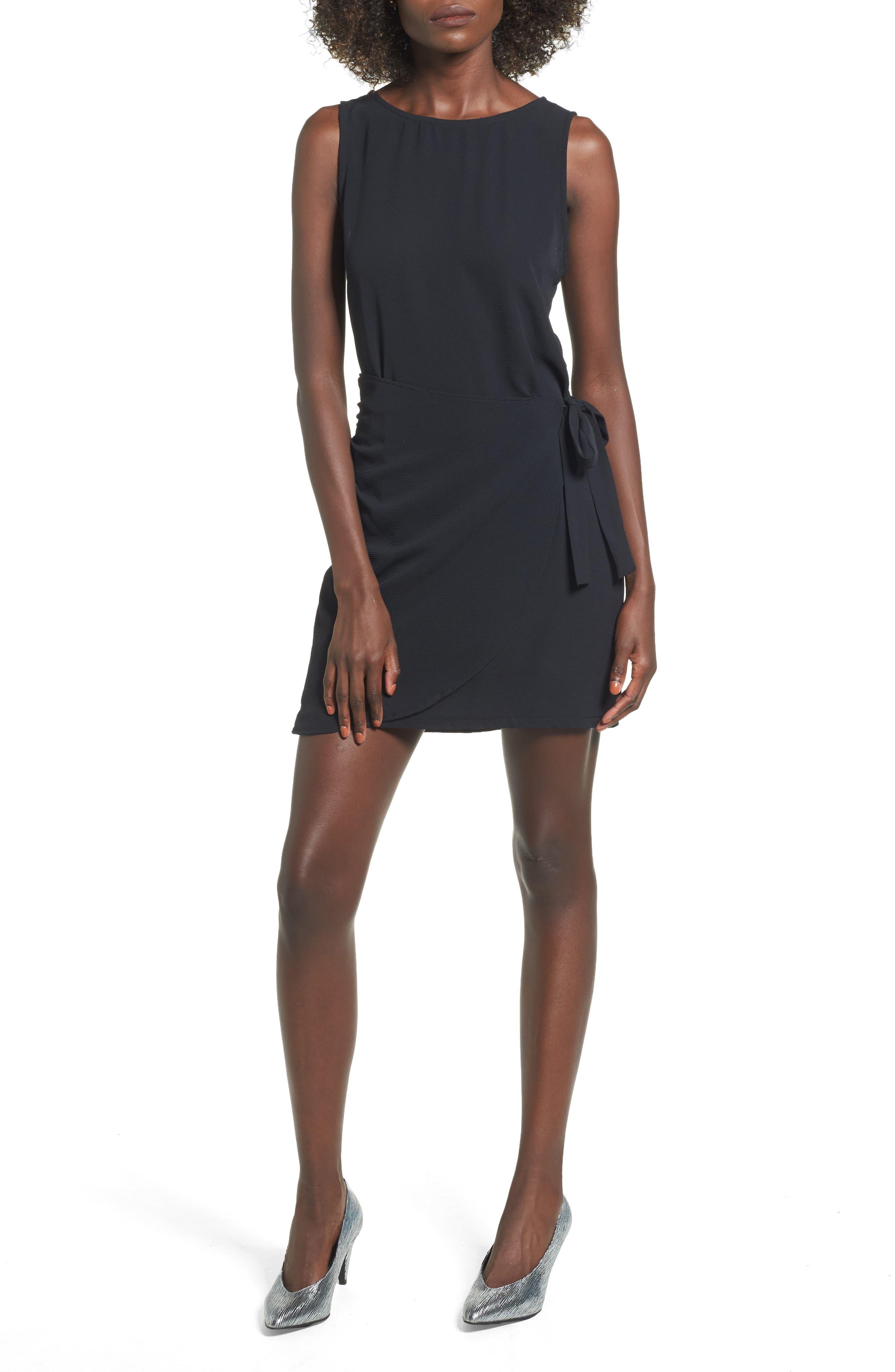 Wrap Skirt Dress,                             Main thumbnail 1, color,                             001