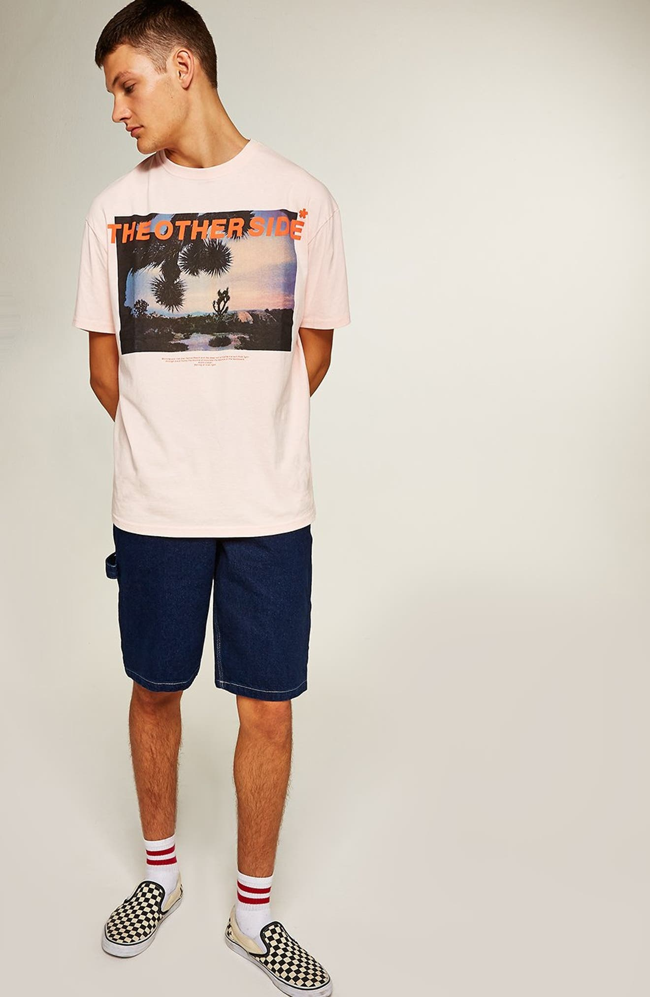 Oversize Other Side Graphic T-Shirt,                             Alternate thumbnail 5, color,                             650