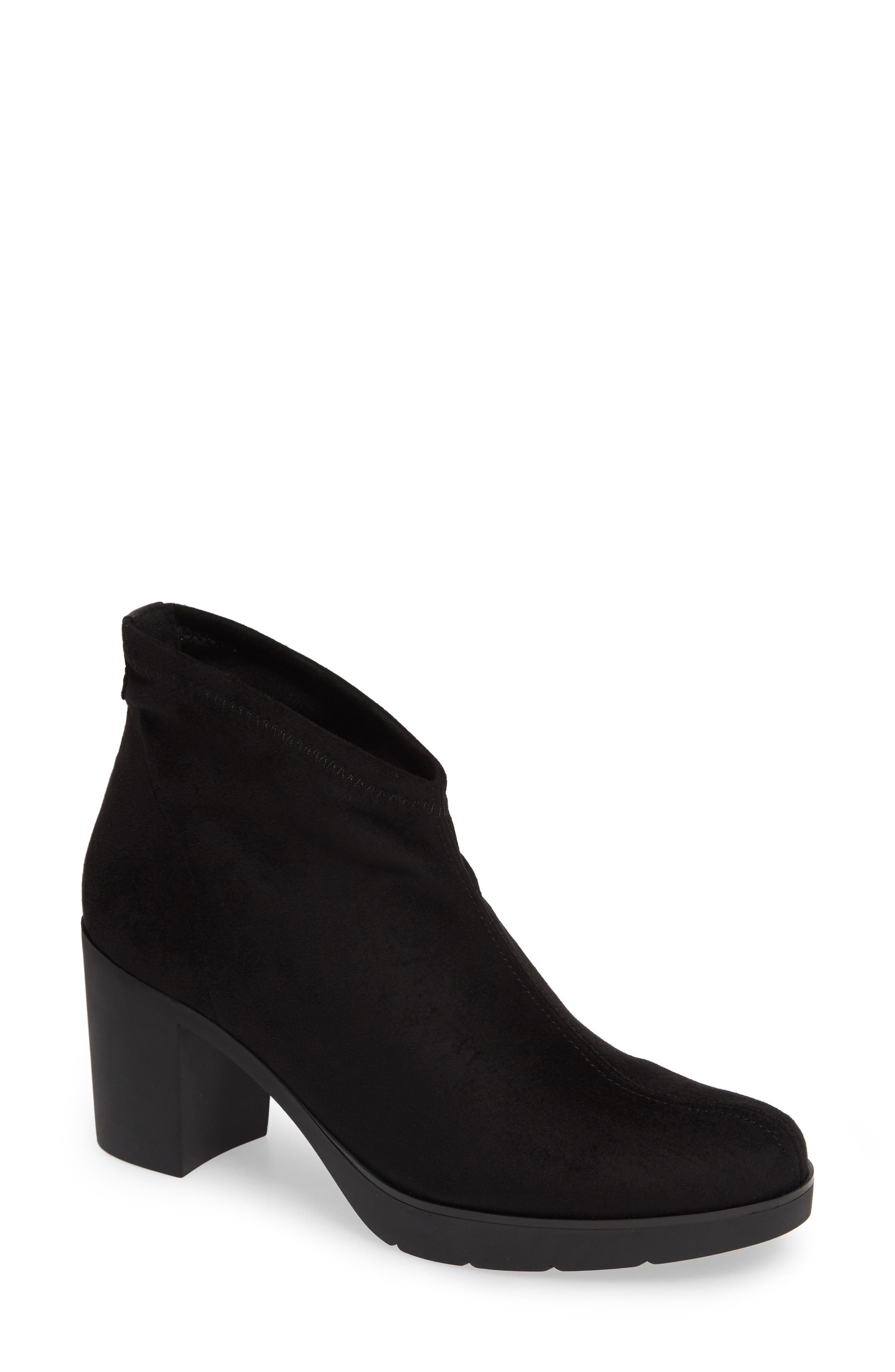 'Finley' Bootie,                         Main,                         color, BLACK/ BLACK FABRIC