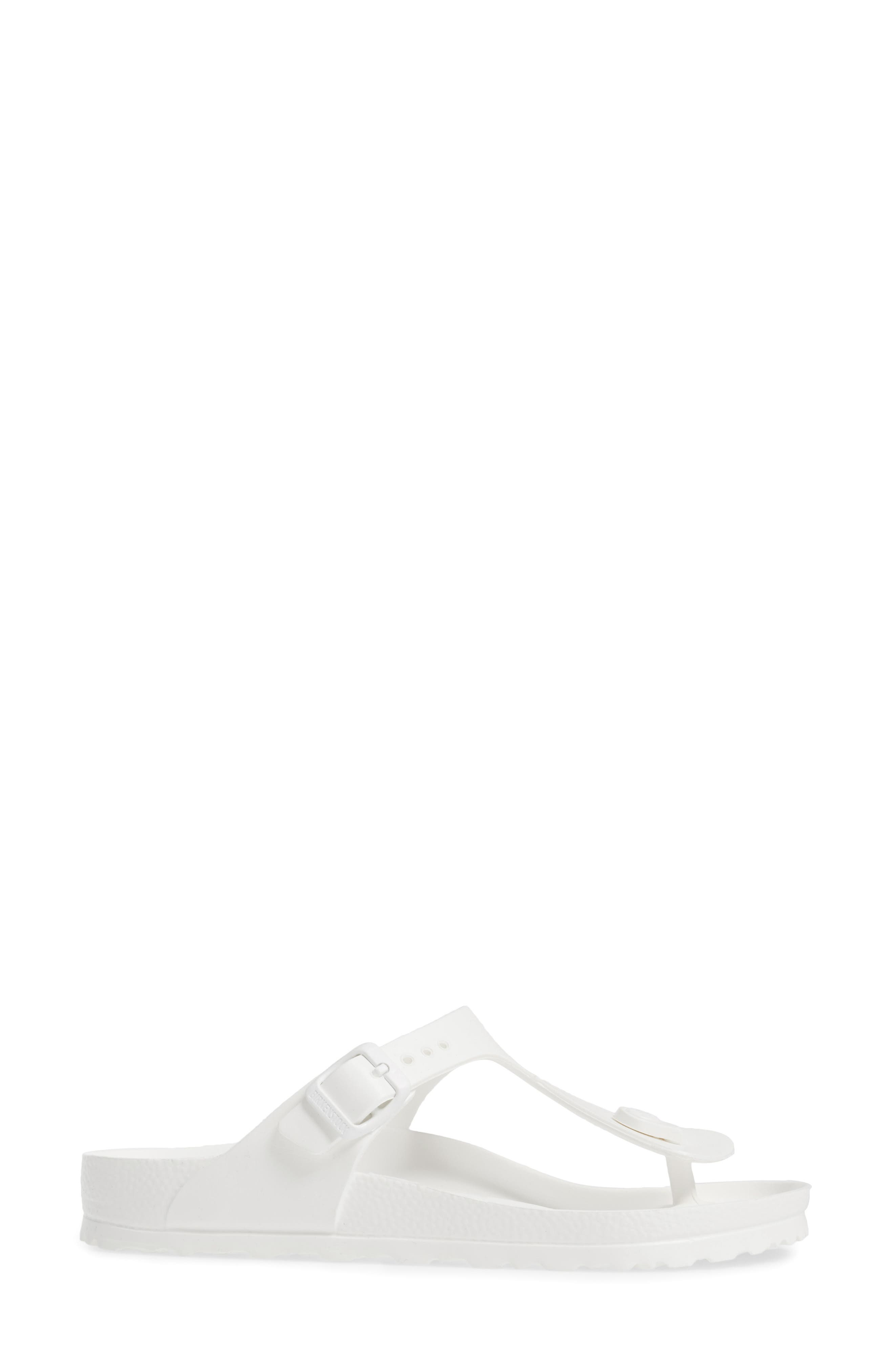 Essentials - Gizeh Flip Flop,                             Alternate thumbnail 3, color,                             WHITE