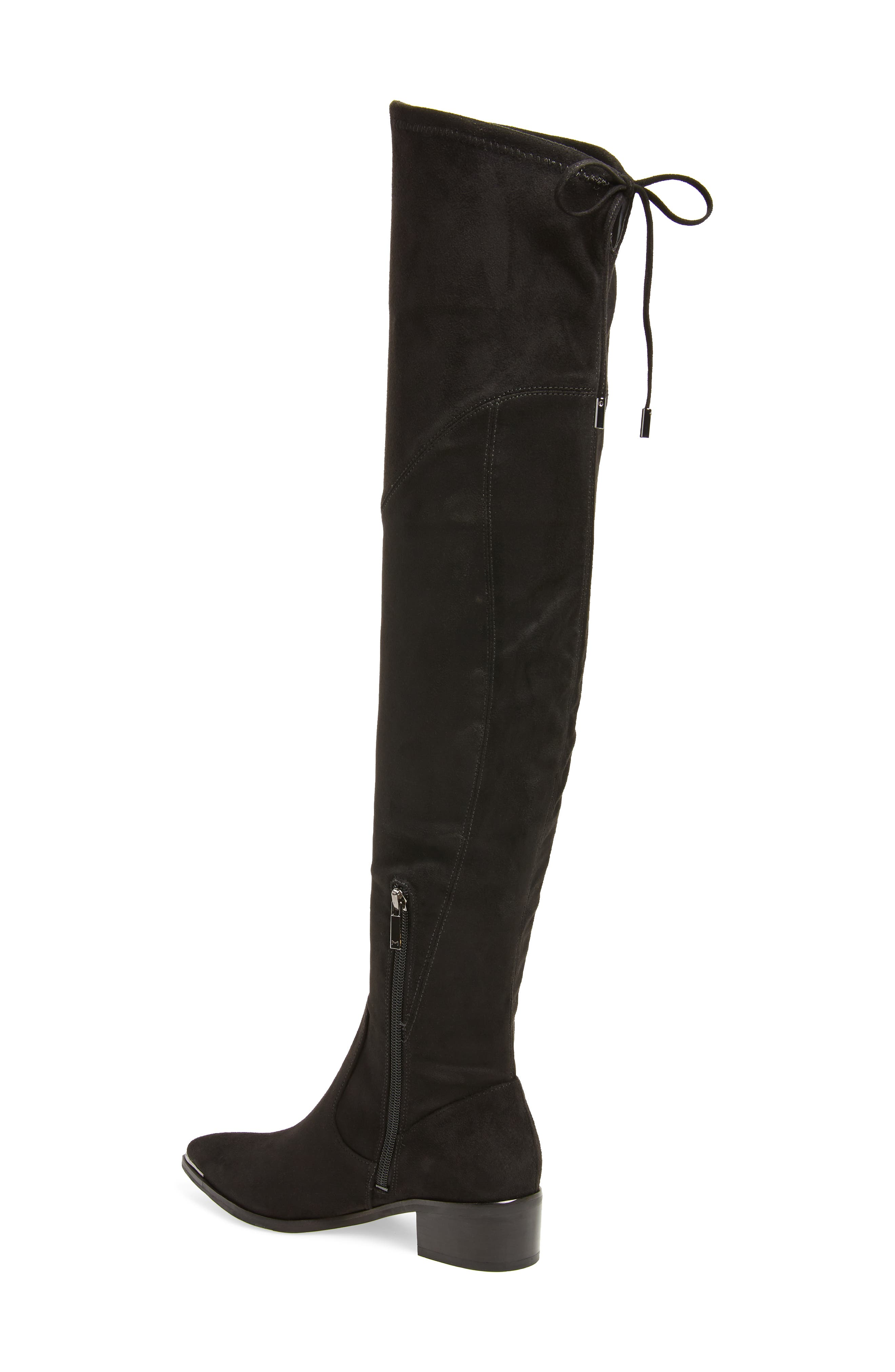 Yuna Over the Knee Boot,                             Alternate thumbnail 2, color,                             BLACK FAUX SUEDE