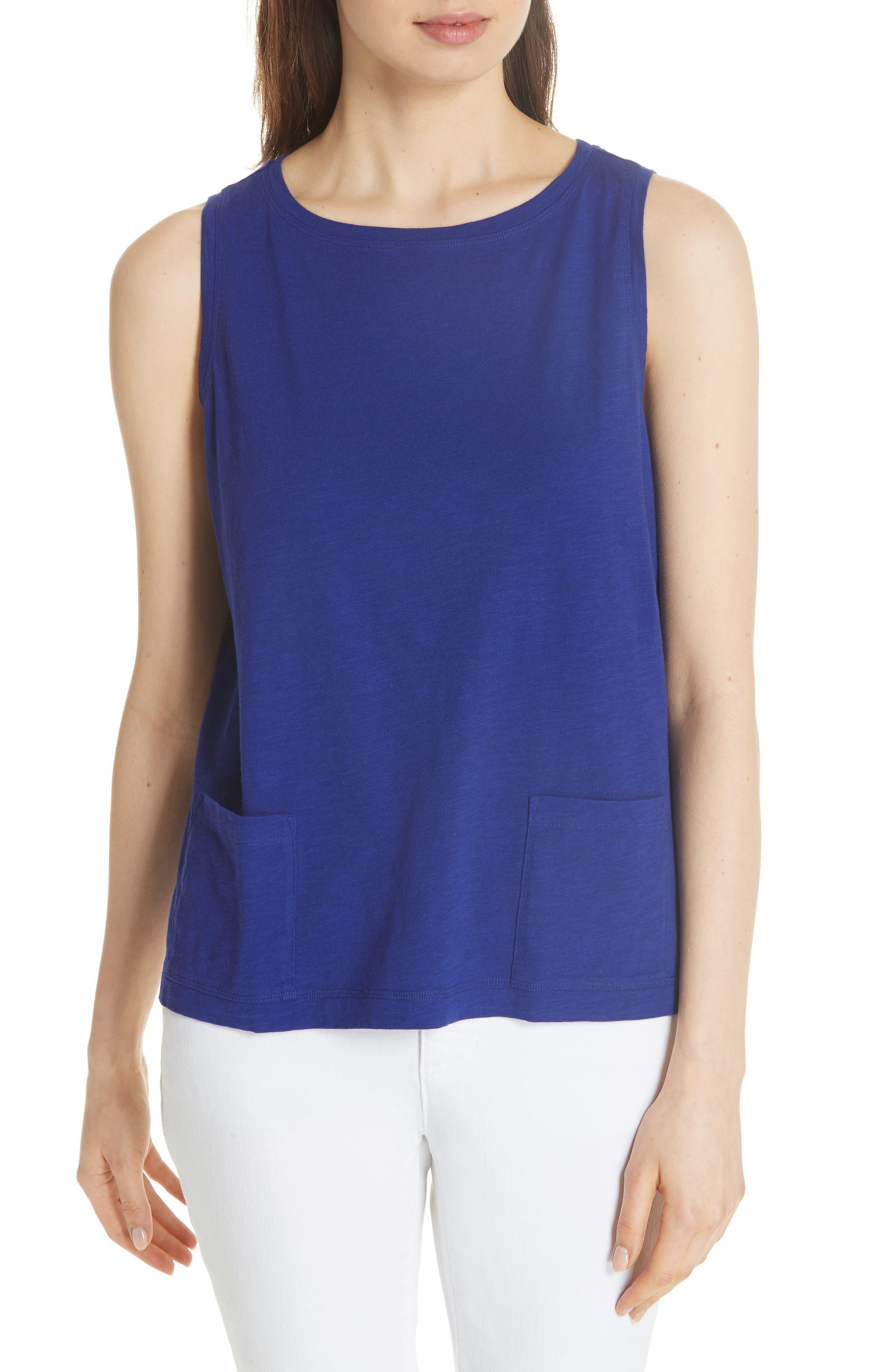 Short Organic Cotton Shell,                         Main,                         color, BLUE VIOLET