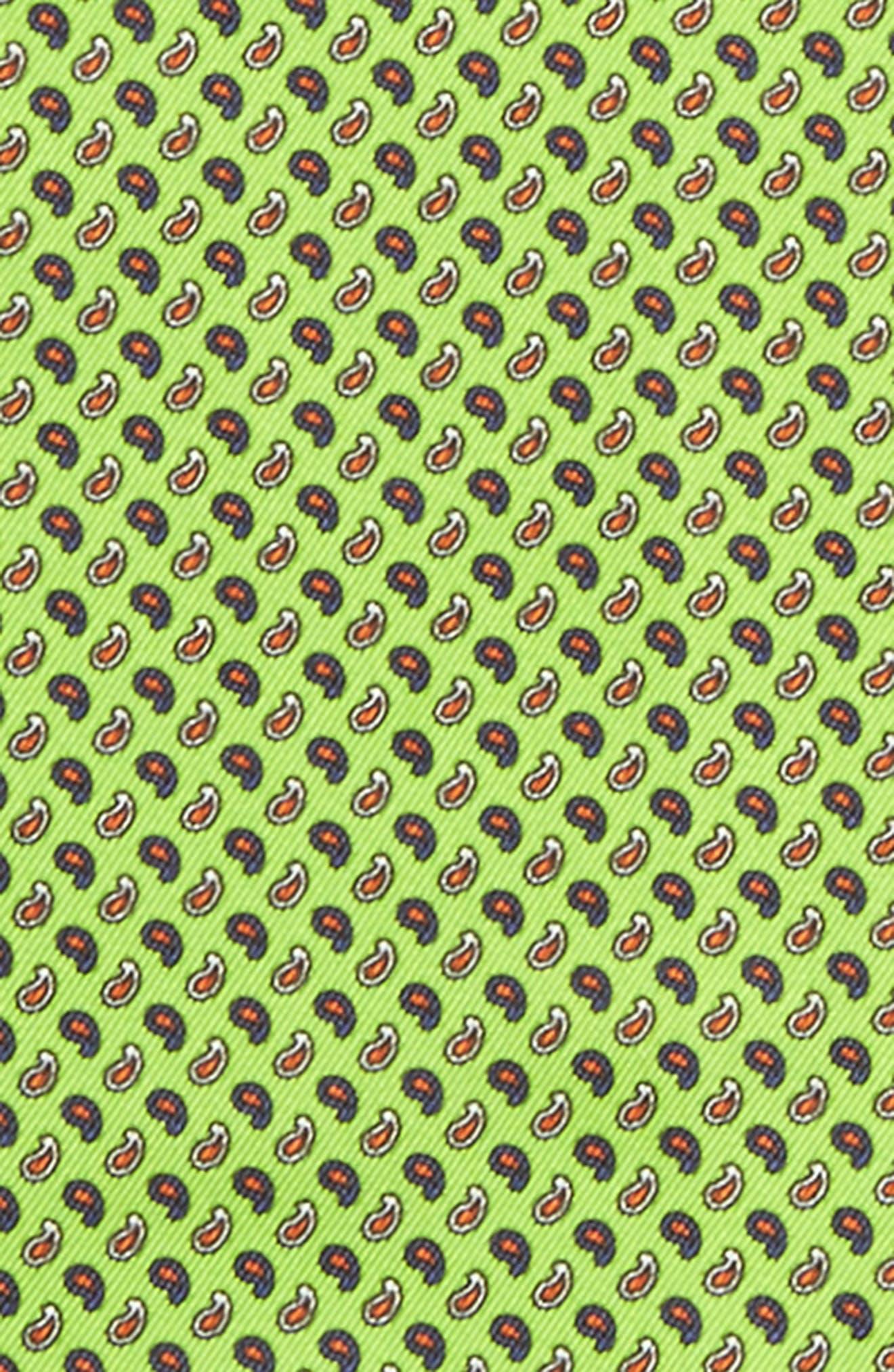 Paisley Silk Pocket Square,                             Alternate thumbnail 7, color,